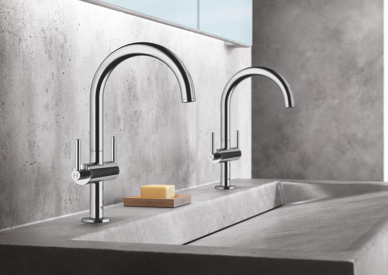 Atrio batteria monoforo per lavabo taglia l rubinetteria lavabi