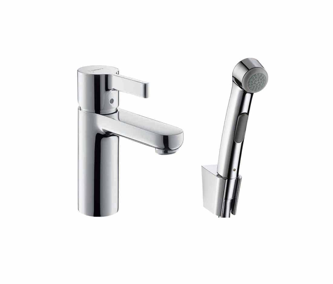 hansgrohe metris s 3 hole rim mounted bath mixer dn15. Black Bedroom Furniture Sets. Home Design Ideas