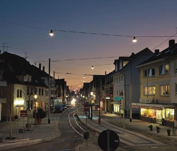 Éclairage Suspension Public Pendo Hess Luminaire De Caténaire xWrCoBde