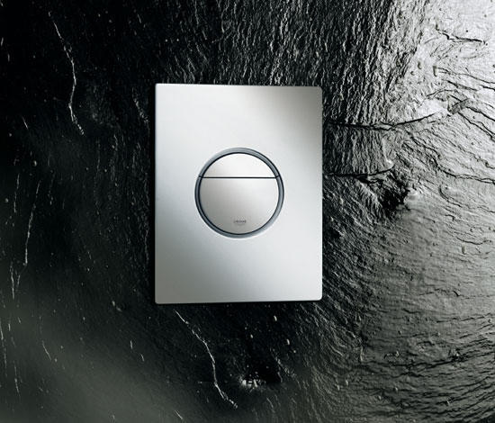 nova cosmopolitan flush plate flushes from grohe architonic. Black Bedroom Furniture Sets. Home Design Ideas