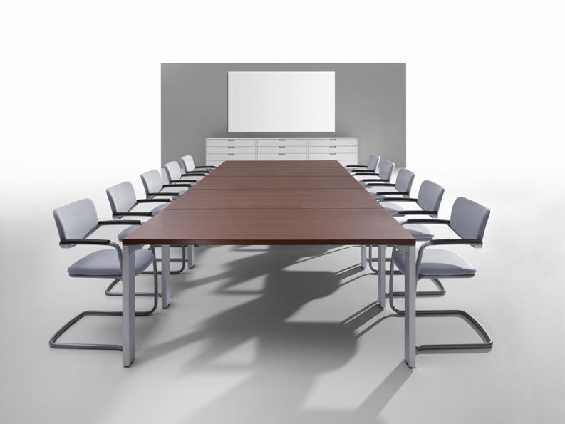 Planes conference system contract tables from haworth architonic - Table de reunion modulable ...