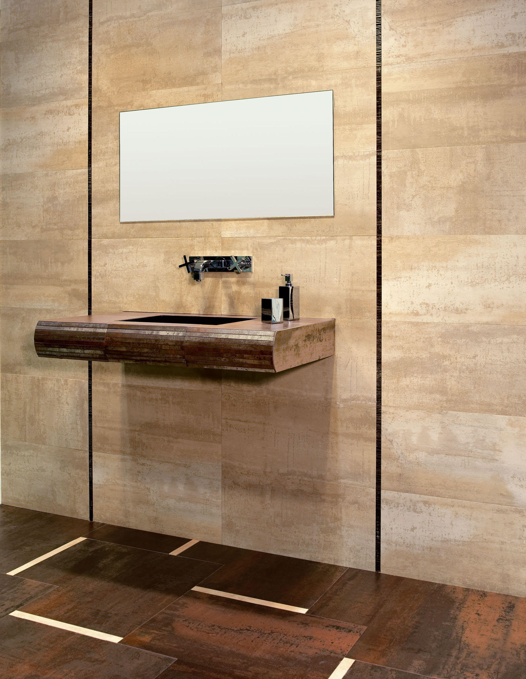 corten blanco tiles from tau ceramica architonic. Black Bedroom Furniture Sets. Home Design Ideas