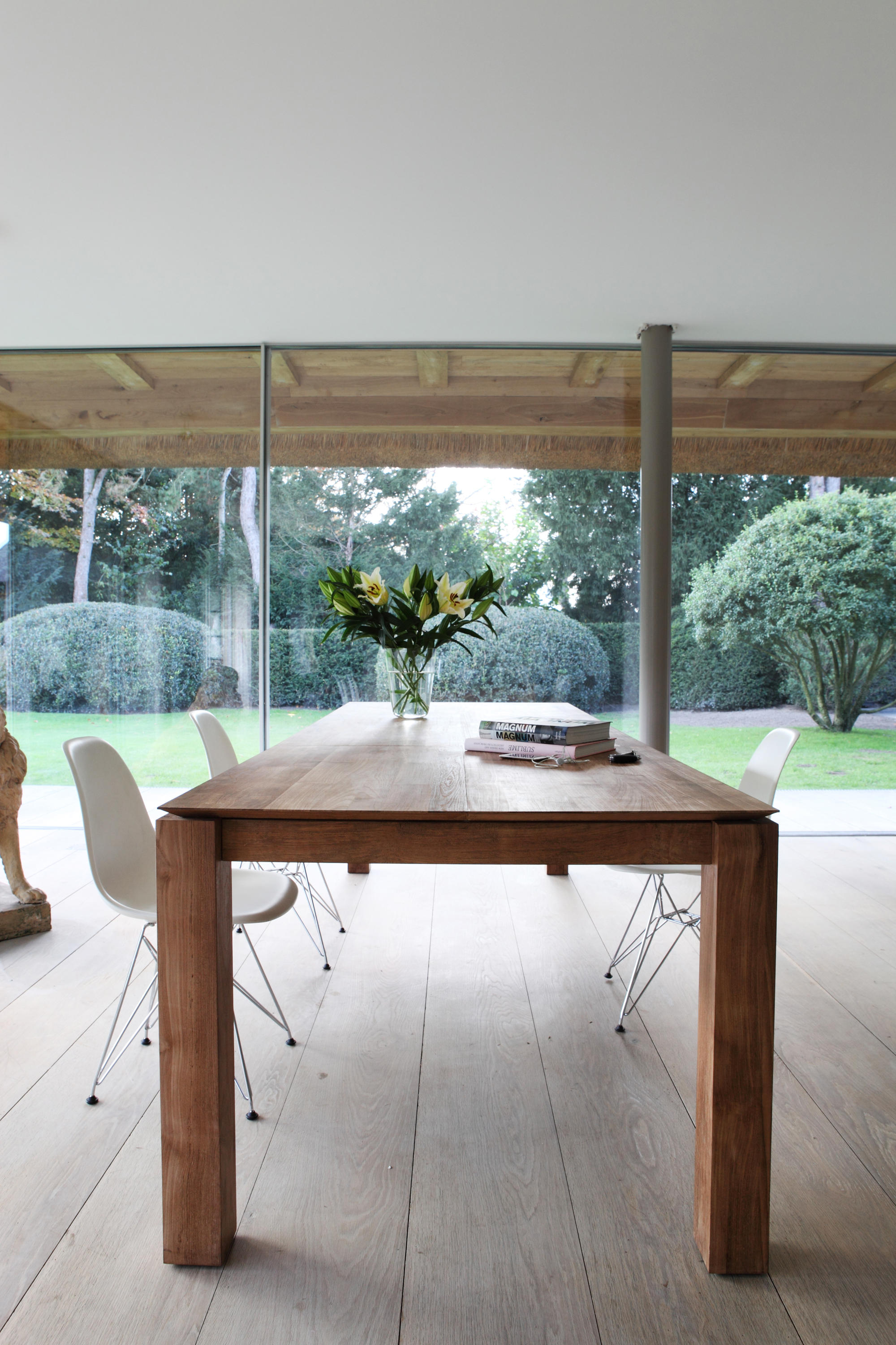 teak slice dining table - restaurant tables from ethnicraft