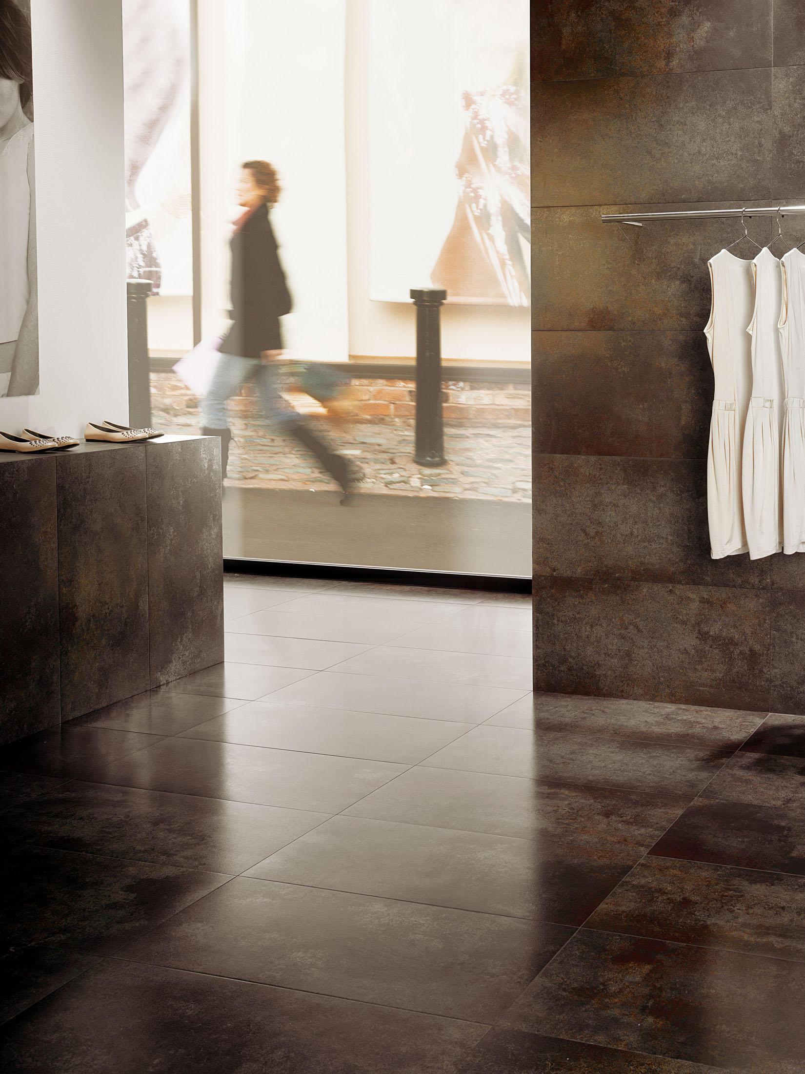 aluminium black floor tiles from tau ceramica architonic. Black Bedroom Furniture Sets. Home Design Ideas