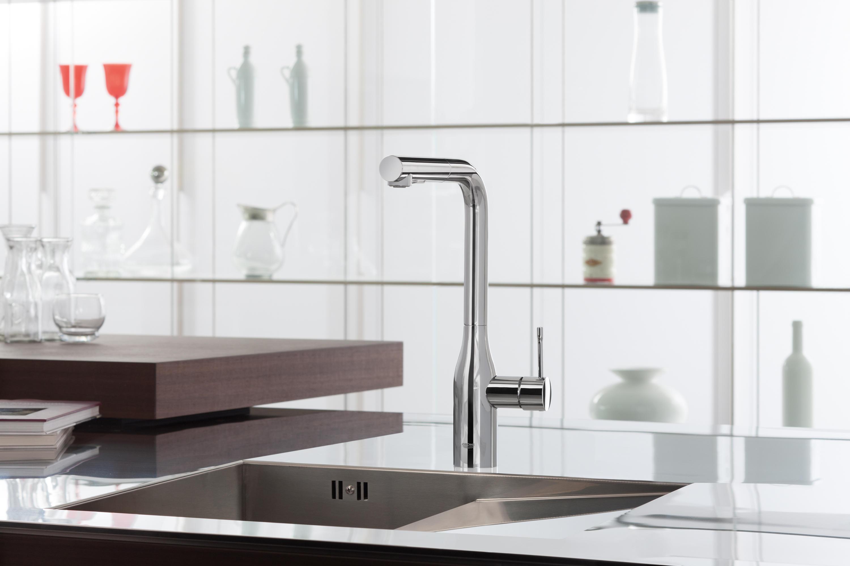 essence foot control electronic single lever sink mixer 1. Black Bedroom Furniture Sets. Home Design Ideas
