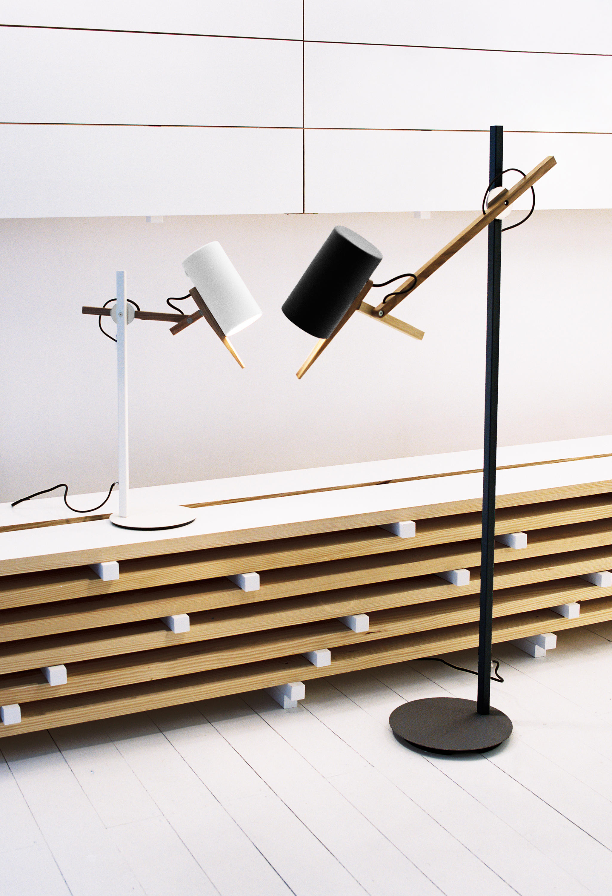 scantling floor lamp reading lights from marset architonic. Black Bedroom Furniture Sets. Home Design Ideas