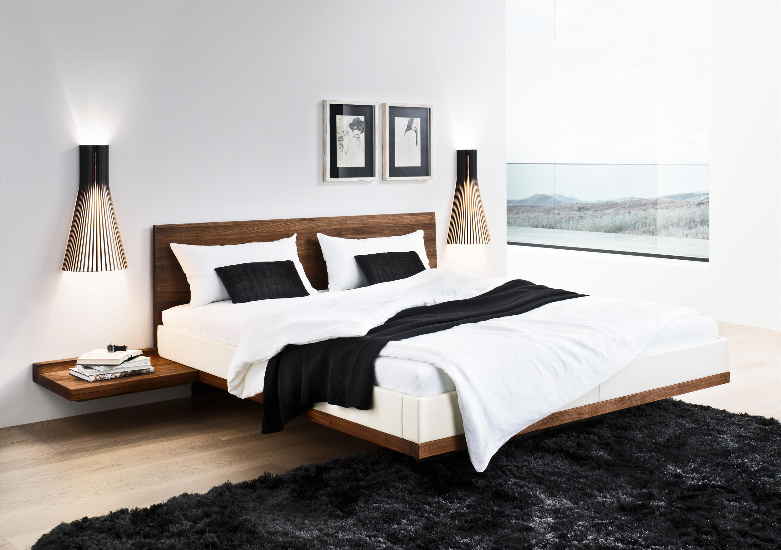 riletto bett doppelbetten von team 7 architonic. Black Bedroom Furniture Sets. Home Design Ideas