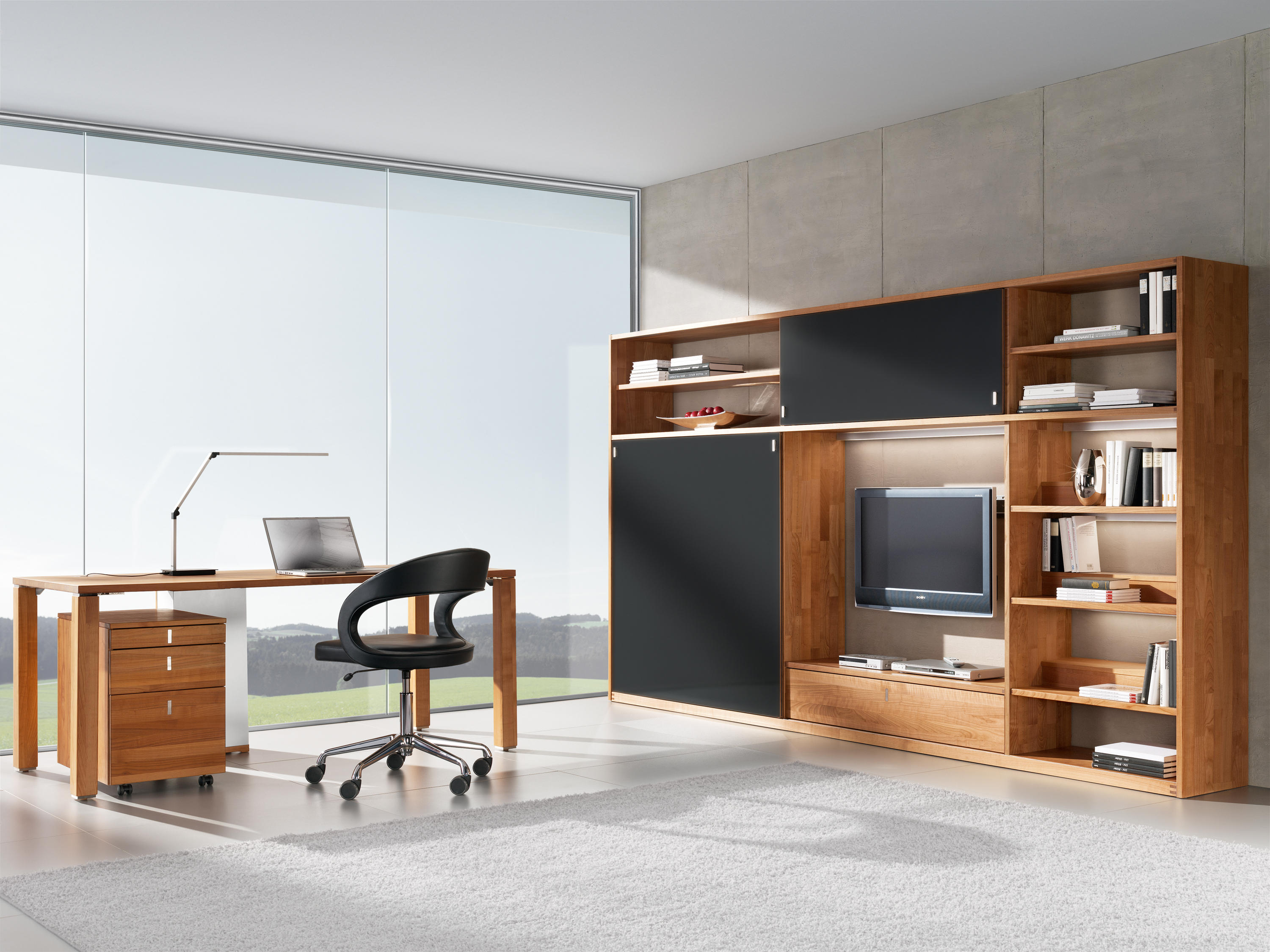 girado stuhl mit fu kreuz besucherst hle von team 7. Black Bedroom Furniture Sets. Home Design Ideas