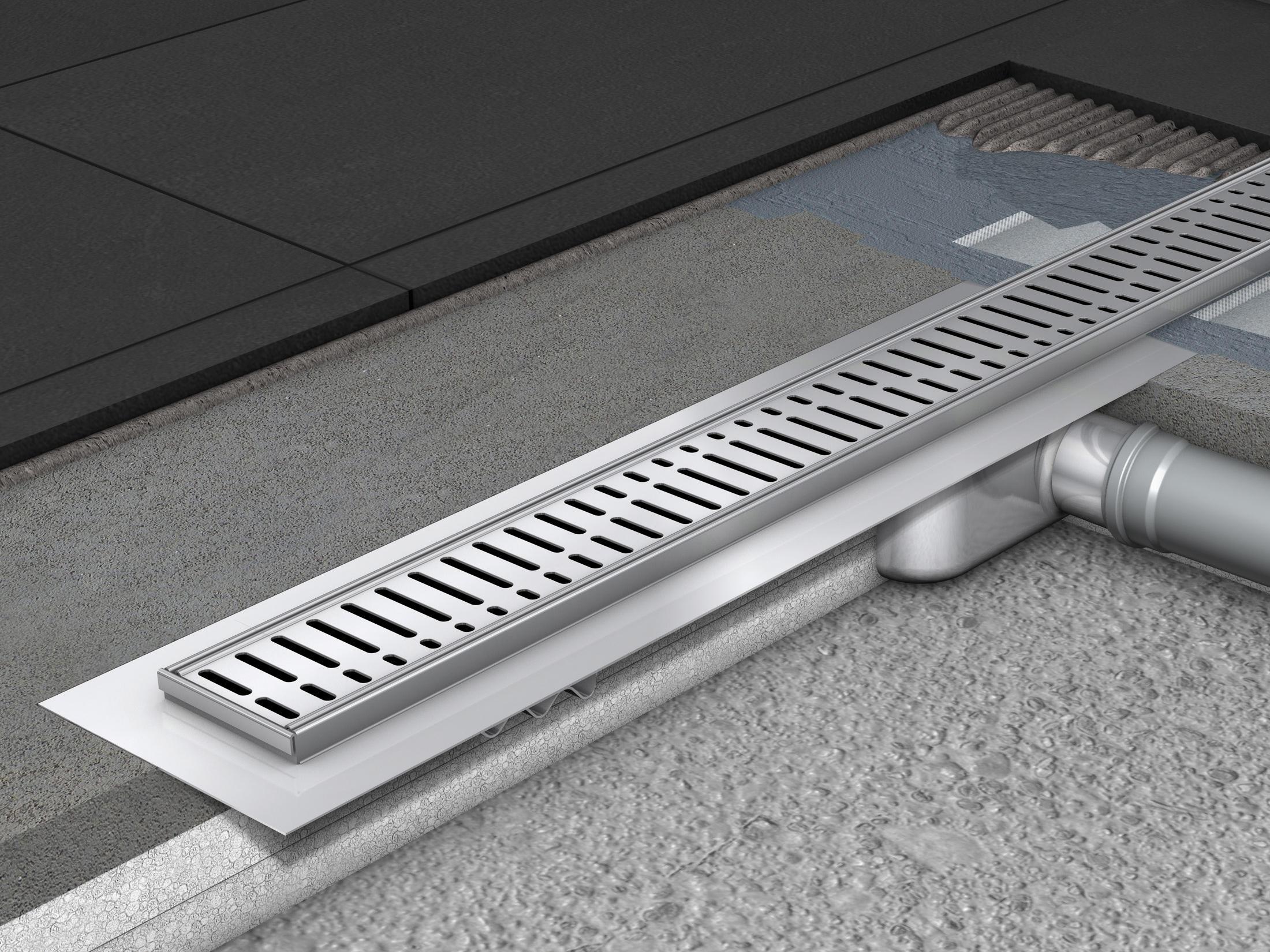 aco showerdrain c line gerade tz rinne linear drains