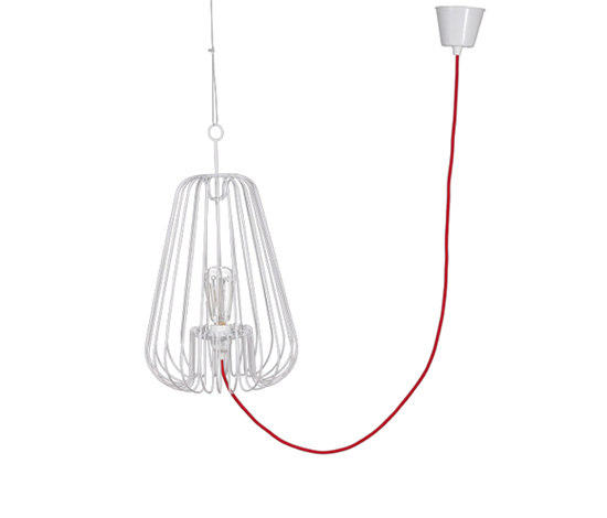 Light Cage Small White Suspended Lights From La Corbeille Architonic - Small-white-light-cage-by-josselin-deris