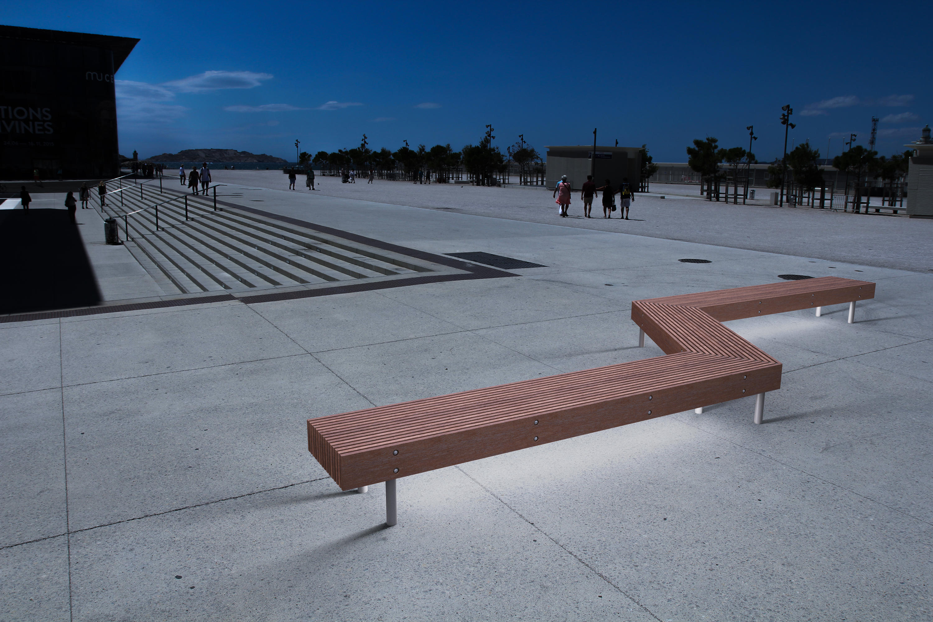 Woody Park Bench With Backrest Benches From Mmcit 233