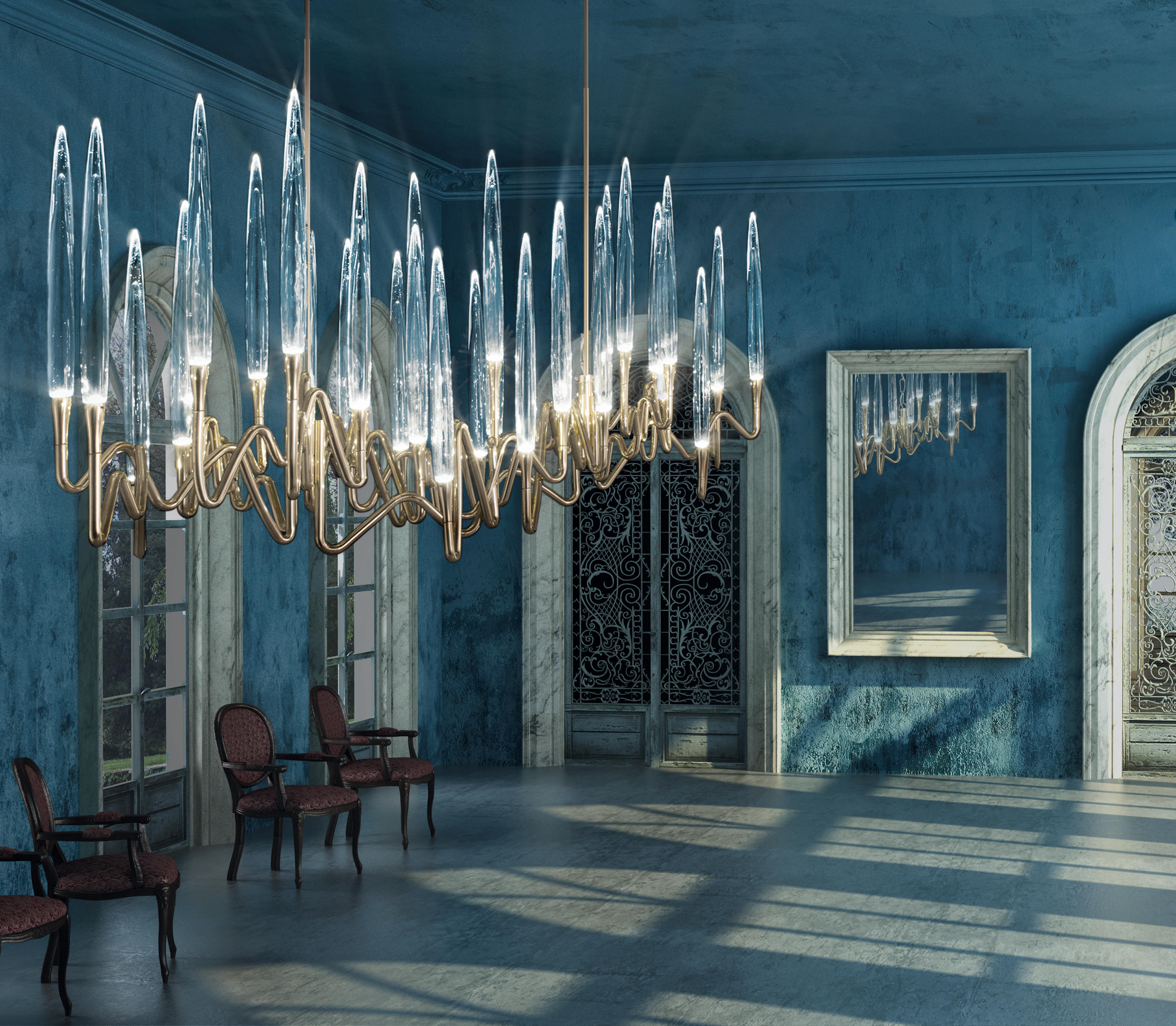 IL PEZZO 3 CHANDELIER Ceiling suspended chandeliers from Il