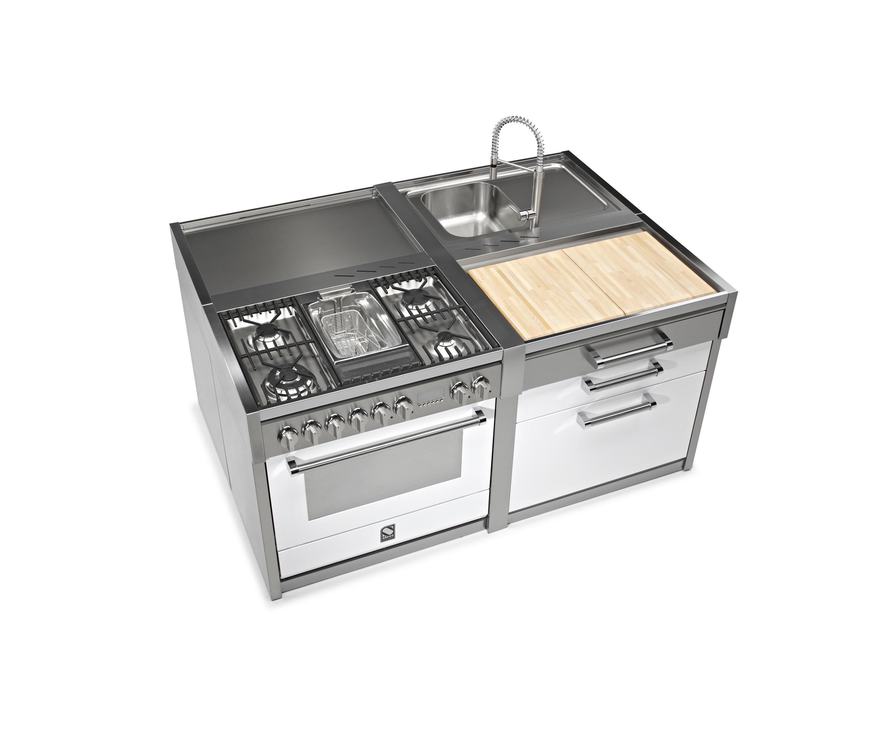 GENESI - DOUBLE BOWL SINK UNIT - Kitchen sinks from Steel | Architonic