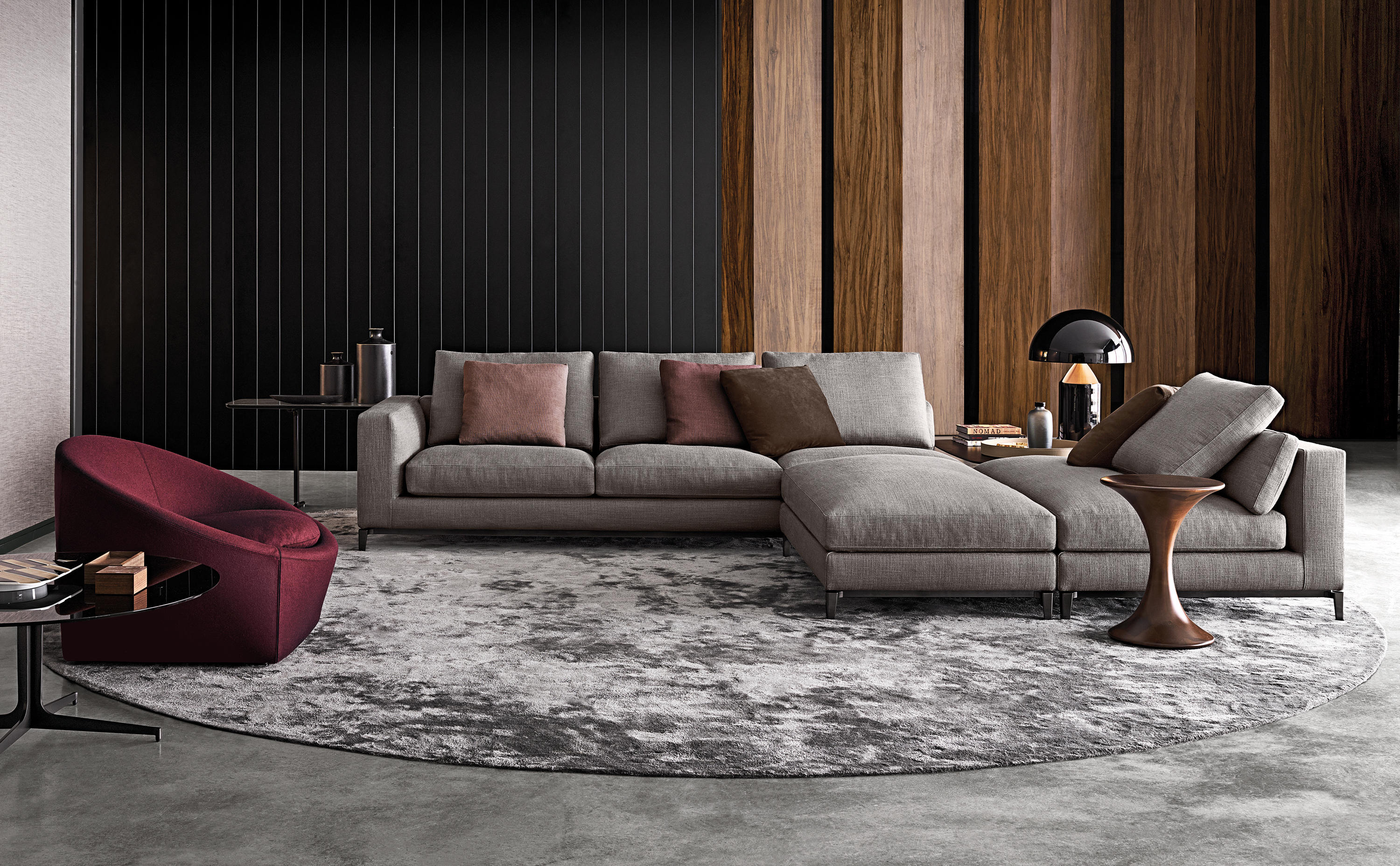 andersen lounge sofas from minotti architonic. Black Bedroom Furniture Sets. Home Design Ideas