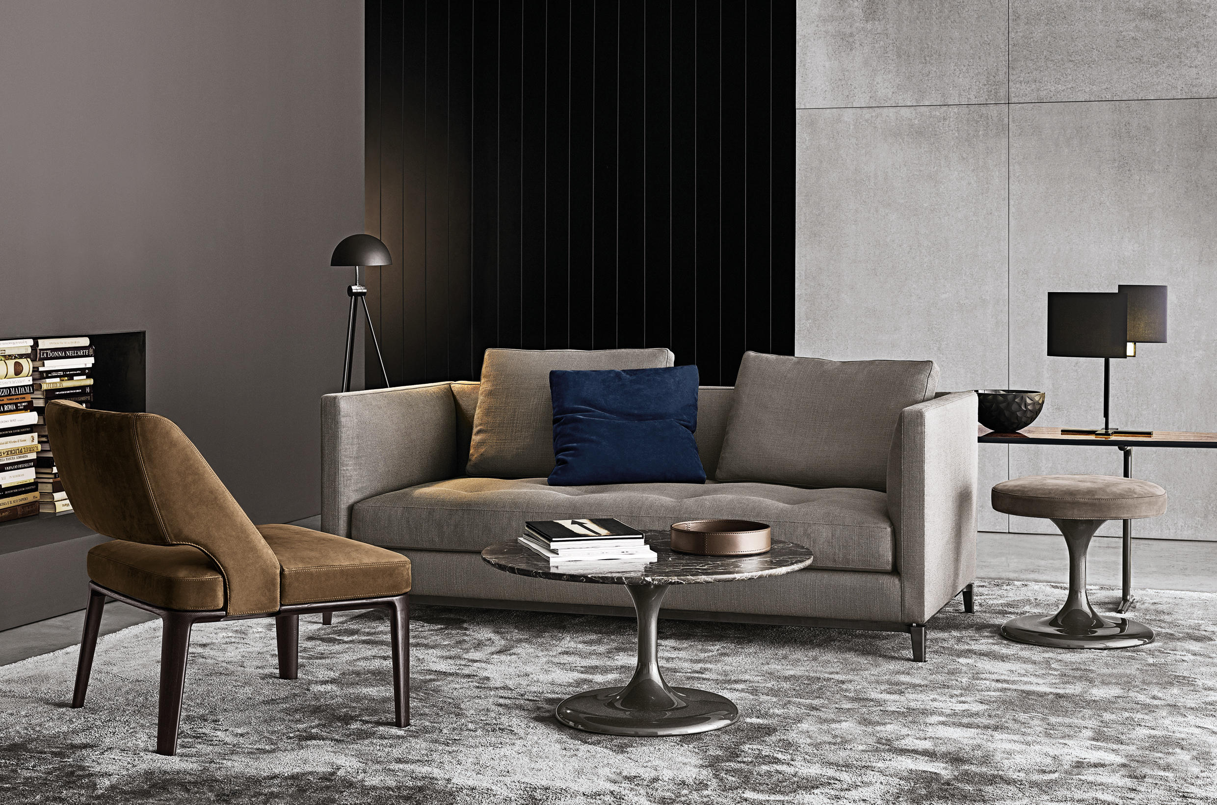 Andersen slim 90 lounge sofas from minotti architonic - Meubles minotti ...