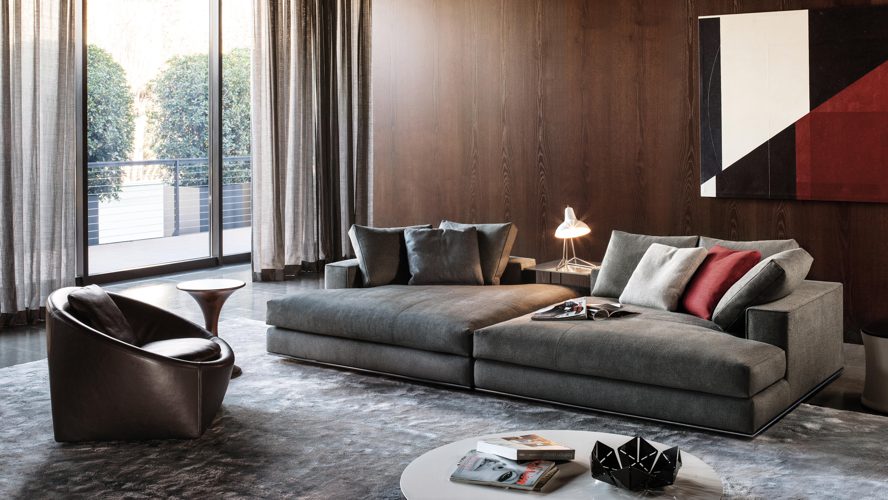 hamilton sofas from minotti architonic. Black Bedroom Furniture Sets. Home Design Ideas