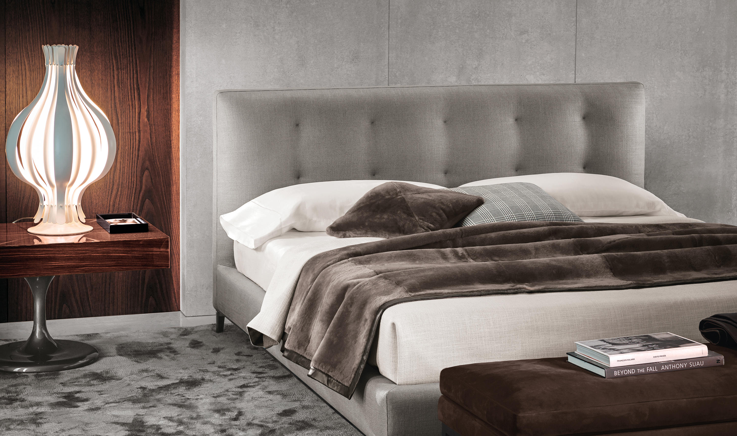 andersen bed double beds from minotti architonic. Black Bedroom Furniture Sets. Home Design Ideas