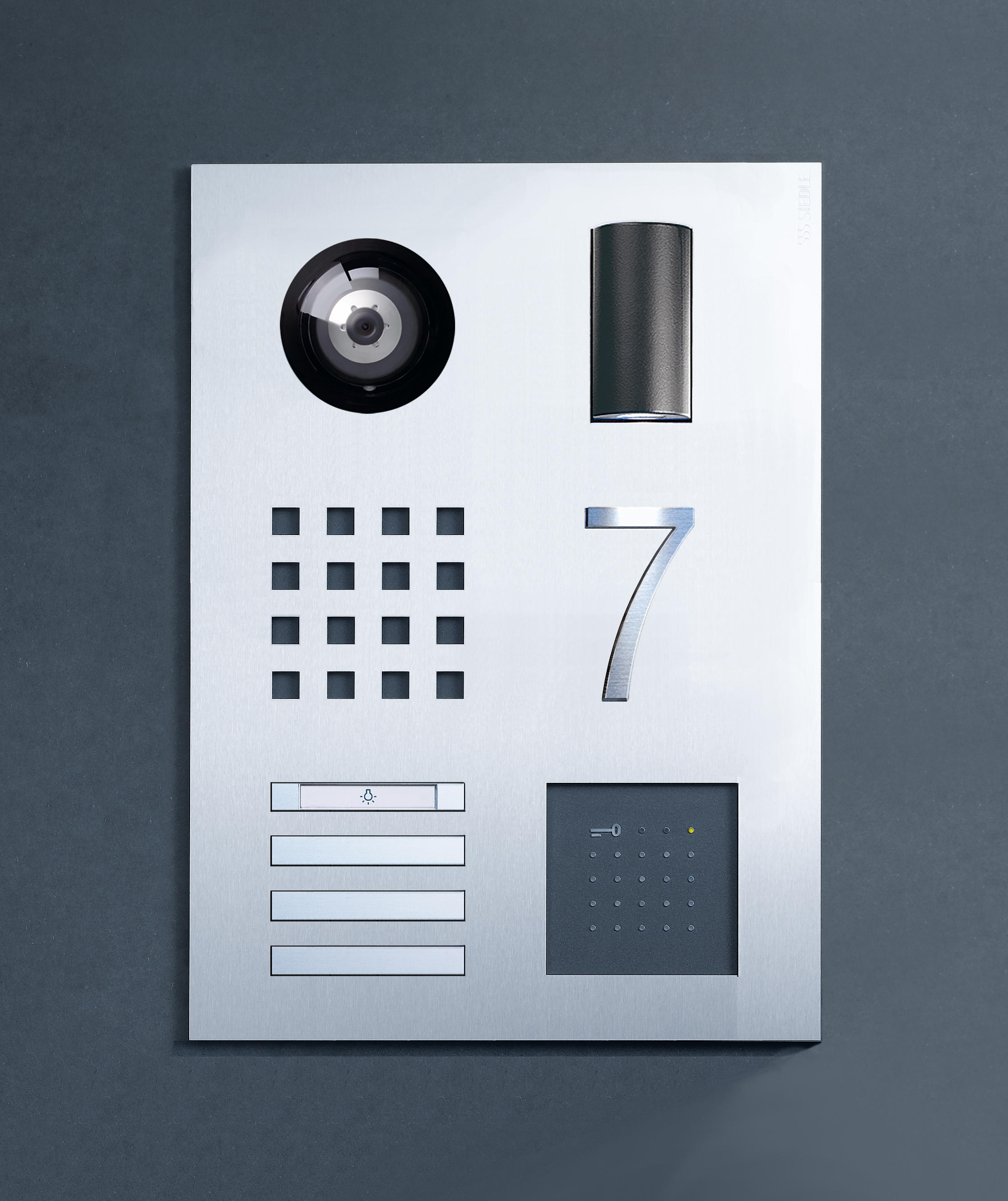 siedle steel door loudspeaker by siedle architonic. Black Bedroom Furniture Sets. Home Design Ideas