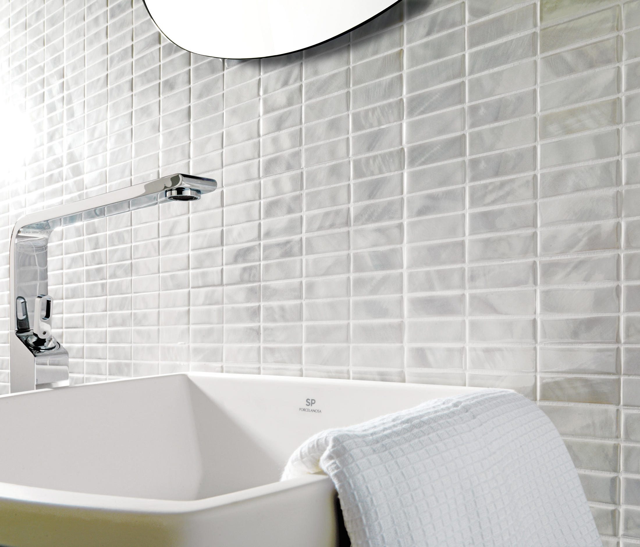 #7D764E PERLATO Ceramic Mosaics From Porcelanosa Architonic 2737 petite salle de bain gris et blanc 2200x1880 px @ aertt.com