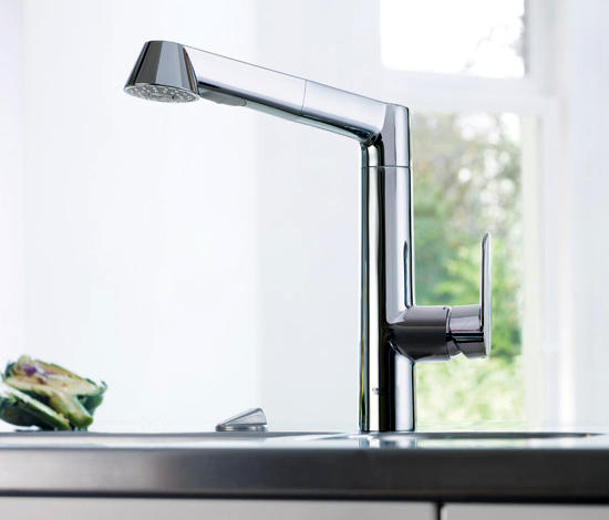 k7 single lever sink mixer 1 2 kitchen taps from grohe architonic. Black Bedroom Furniture Sets. Home Design Ideas