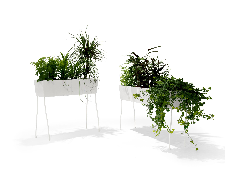 green pedestals pflanzen halter st nder von offecct. Black Bedroom Furniture Sets. Home Design Ideas
