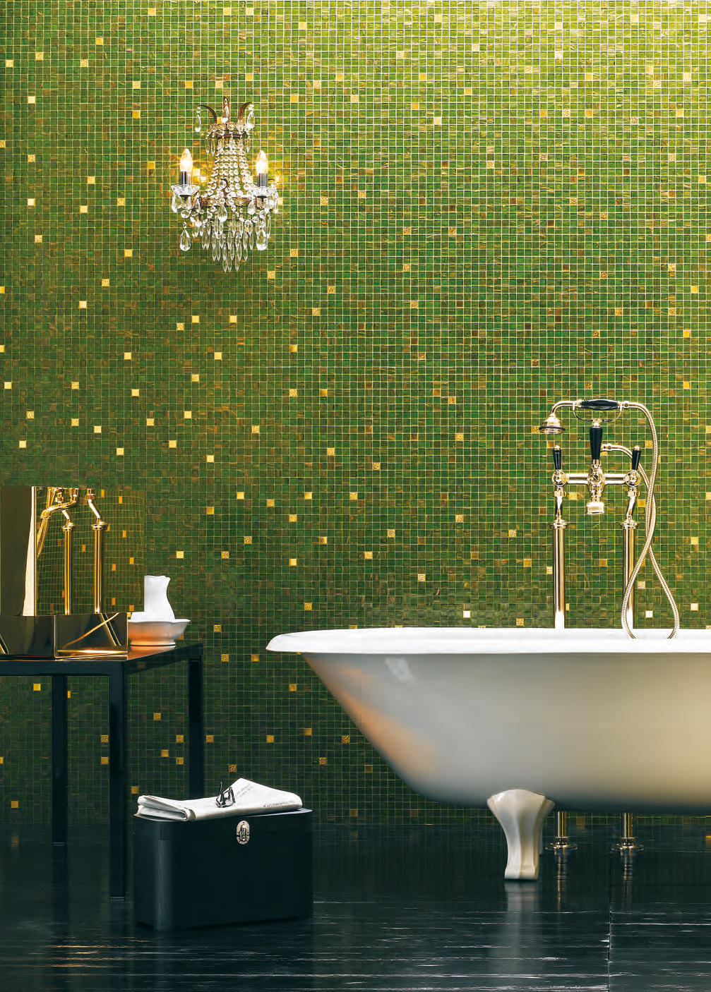 gold collection king 20 glass mosaics from bisazza. Black Bedroom Furniture Sets. Home Design Ideas