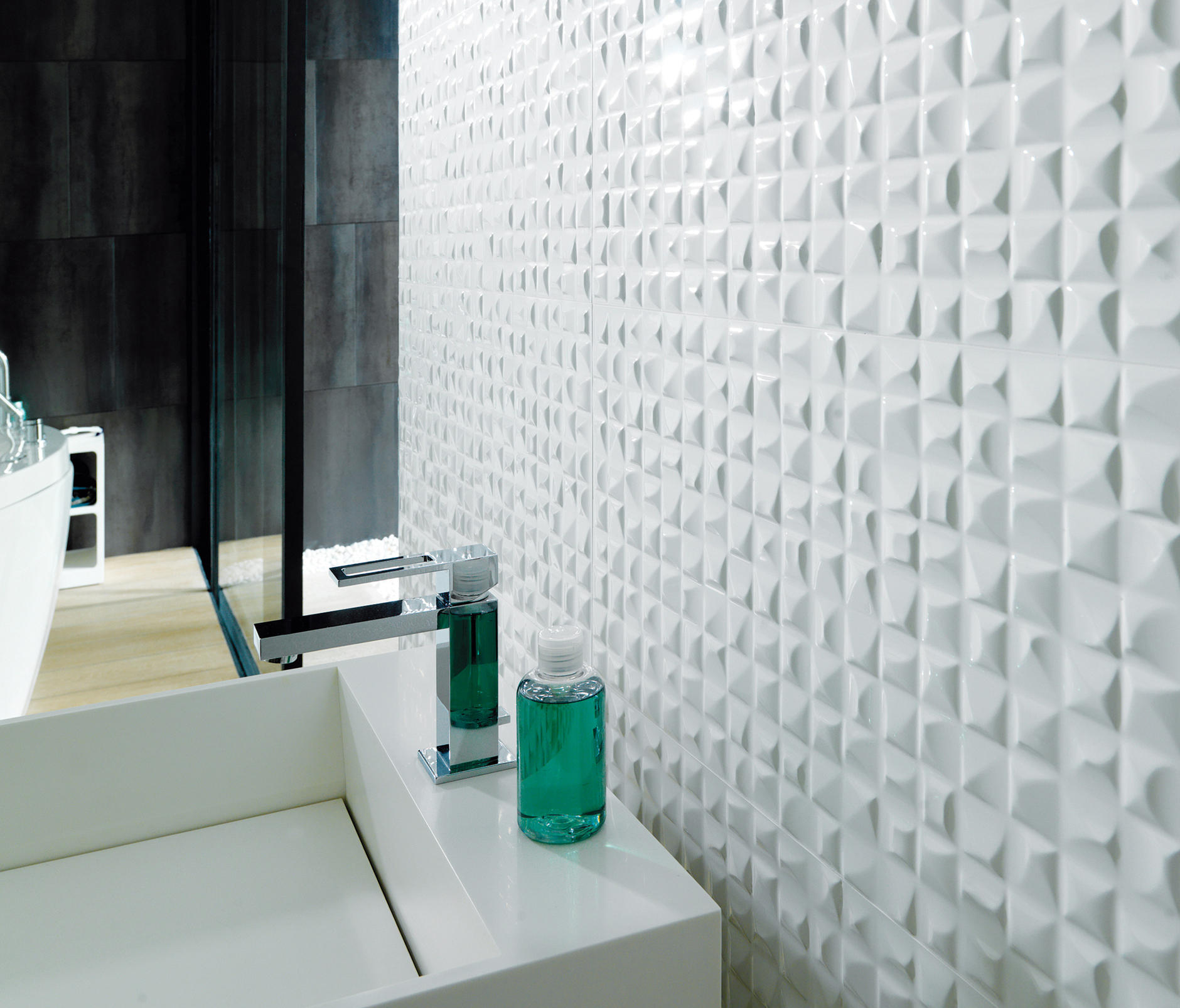 Velas blanco ceramic tiles from porcelanosa architonic for Carrelage salle de bains porcelanosa