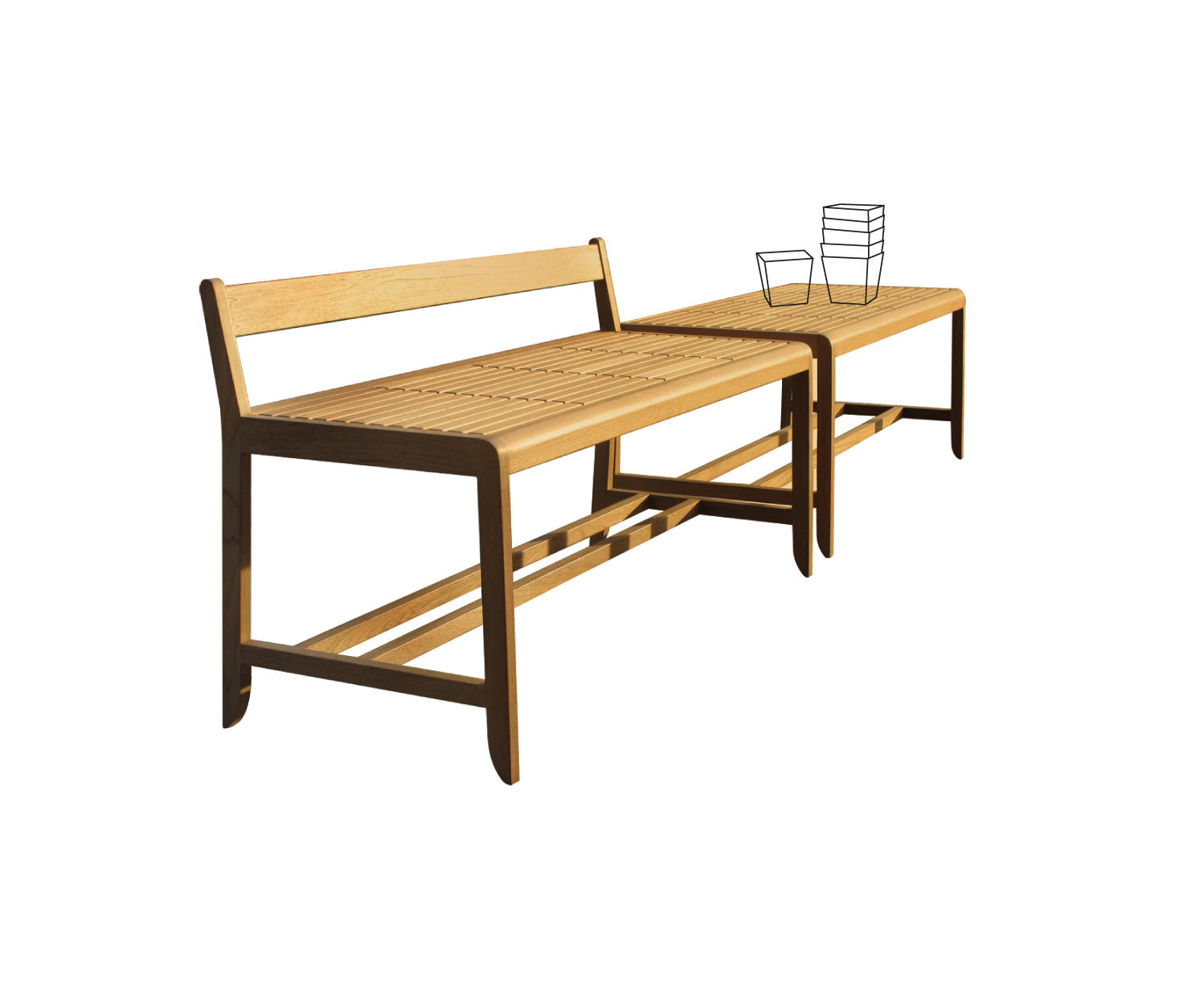 Saki bar stool garten barhocker von deesawat architonic for Barhocker englisch