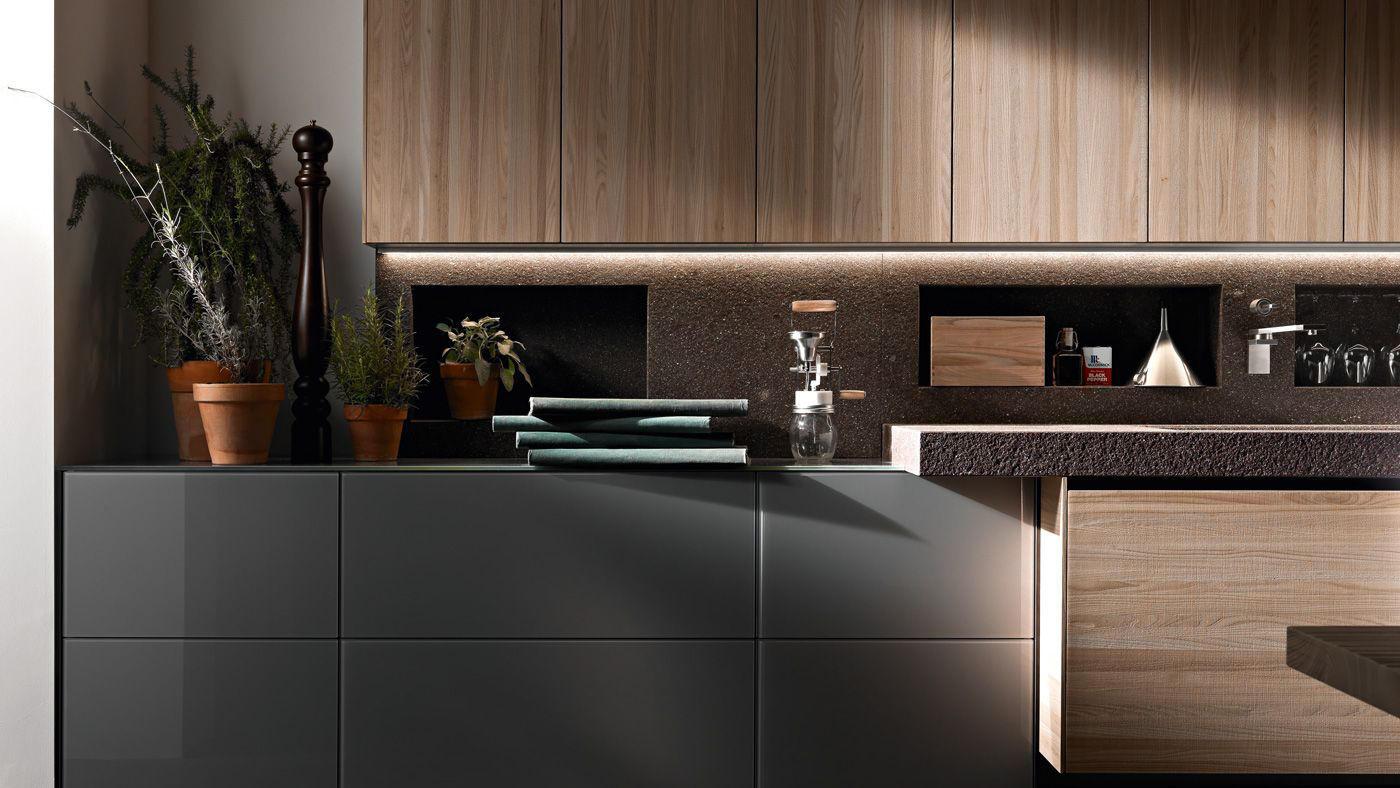Artematica olmo tattile cucine a parete valcucine - Cucine a parete ...