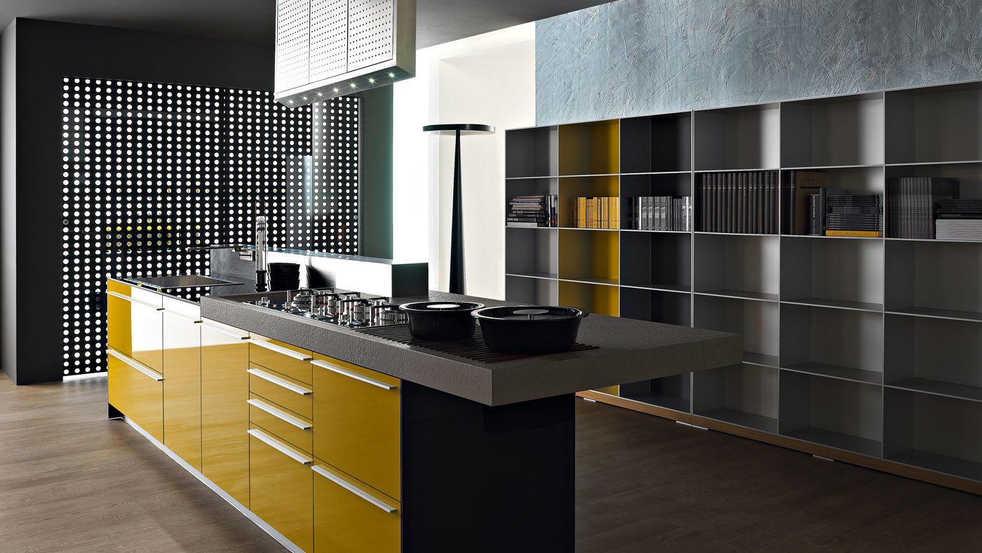 Artematica multiline i giallo senape cucine parete valcucine