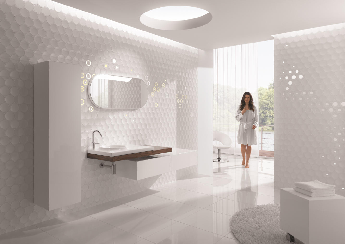 Astounding Dot White Ceramic Tiles From Kale Architonic Download Free Architecture Designs Jebrpmadebymaigaardcom
