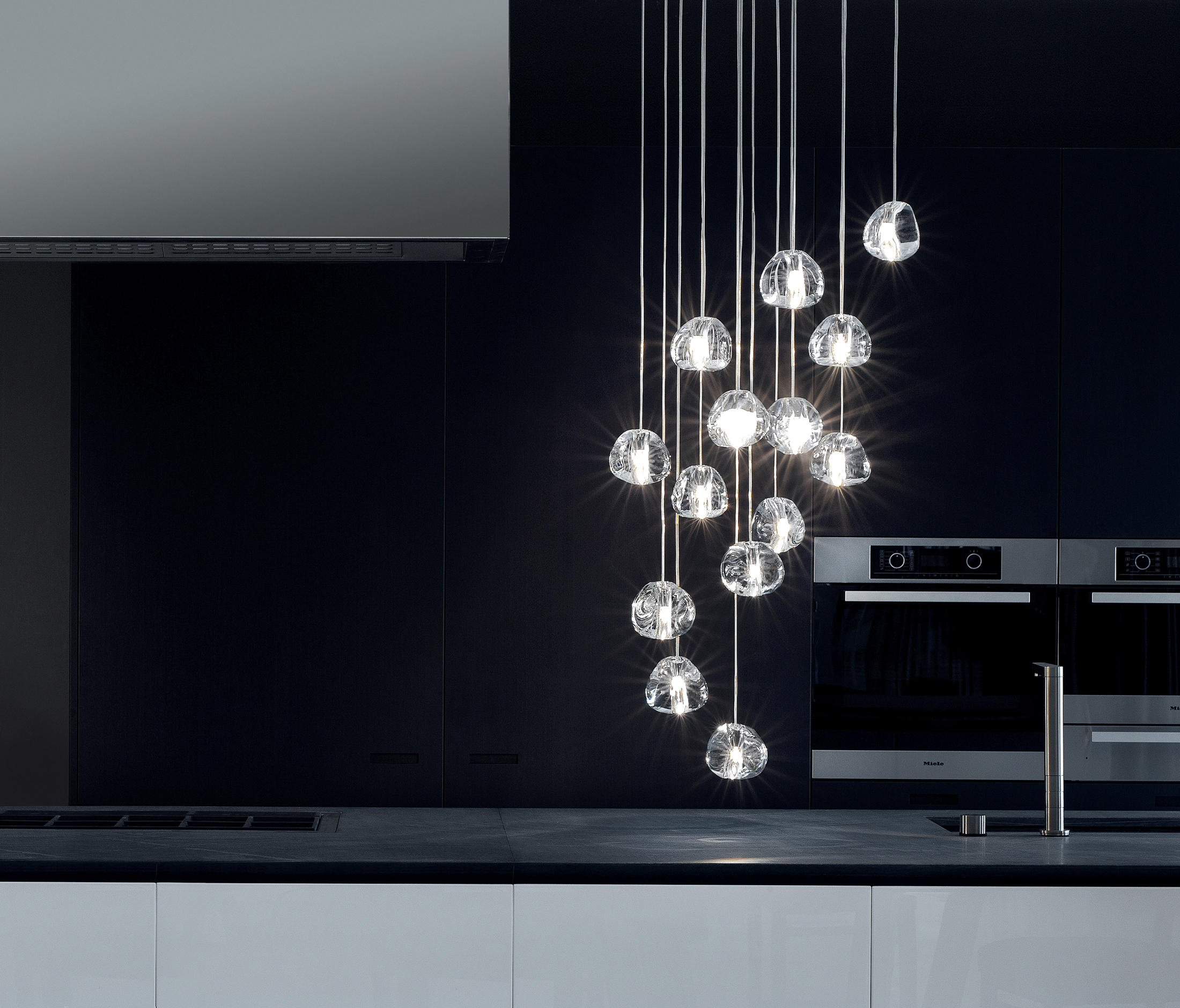 mizu suspended lights from terzani architonic. Black Bedroom Furniture Sets. Home Design Ideas