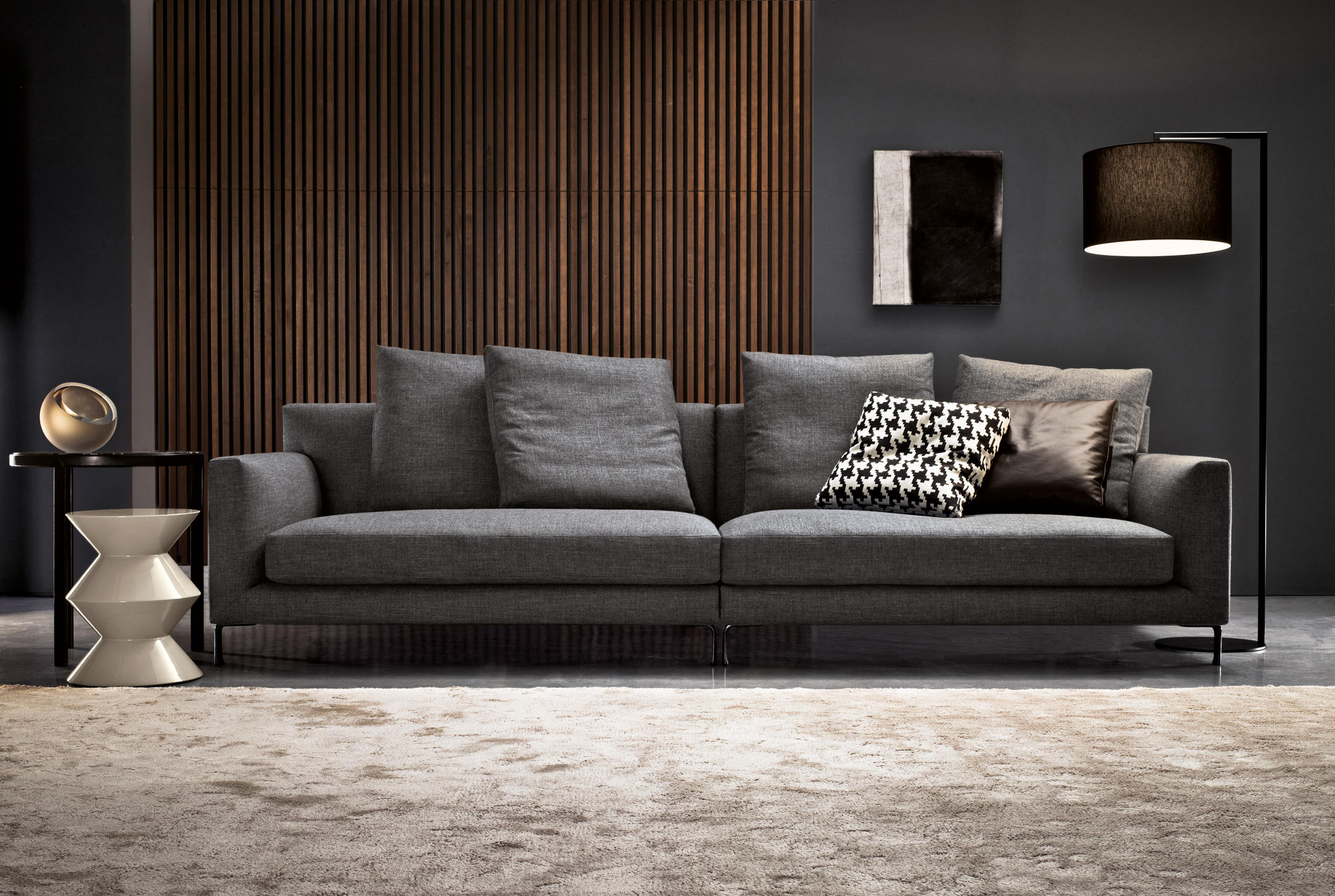 allen sofas from minotti architonic. Black Bedroom Furniture Sets. Home Design Ideas