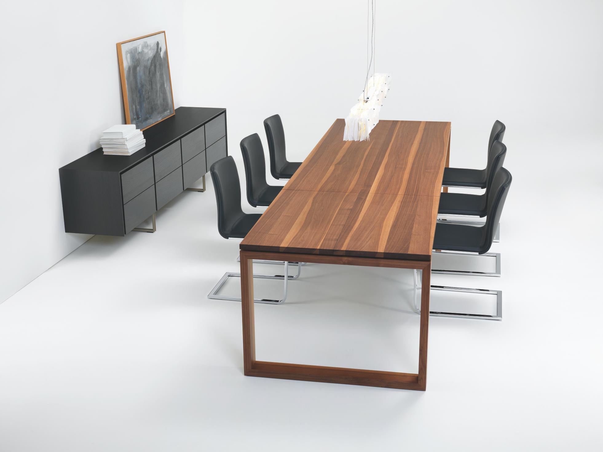 Andra ausziehbarer massivholztisch besprechungstische for Design massivholztisch