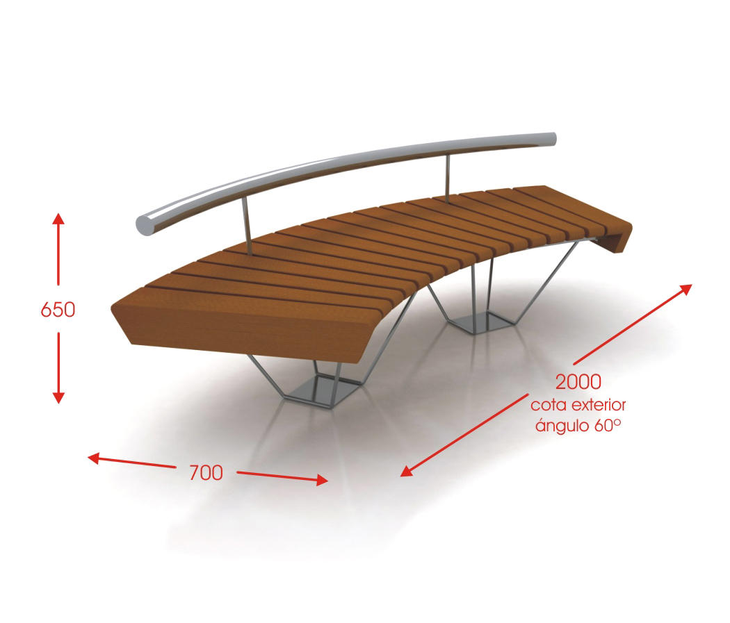 Nilo waiting area benches from cabanes architonic for Medidas de mobiliario urbano
