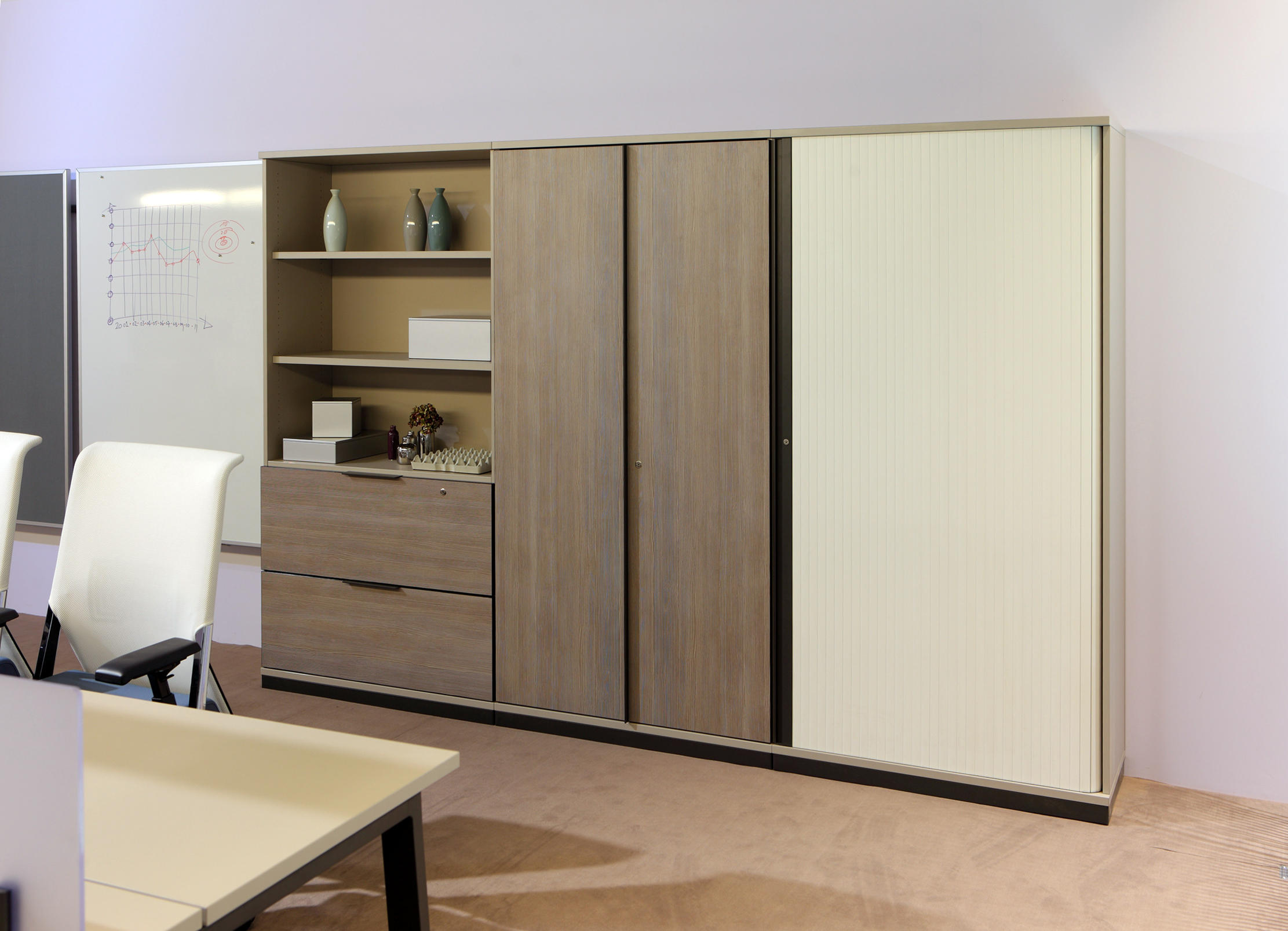 Vados meubles de rangement de haworth architonic for Meuble bureau 2 main