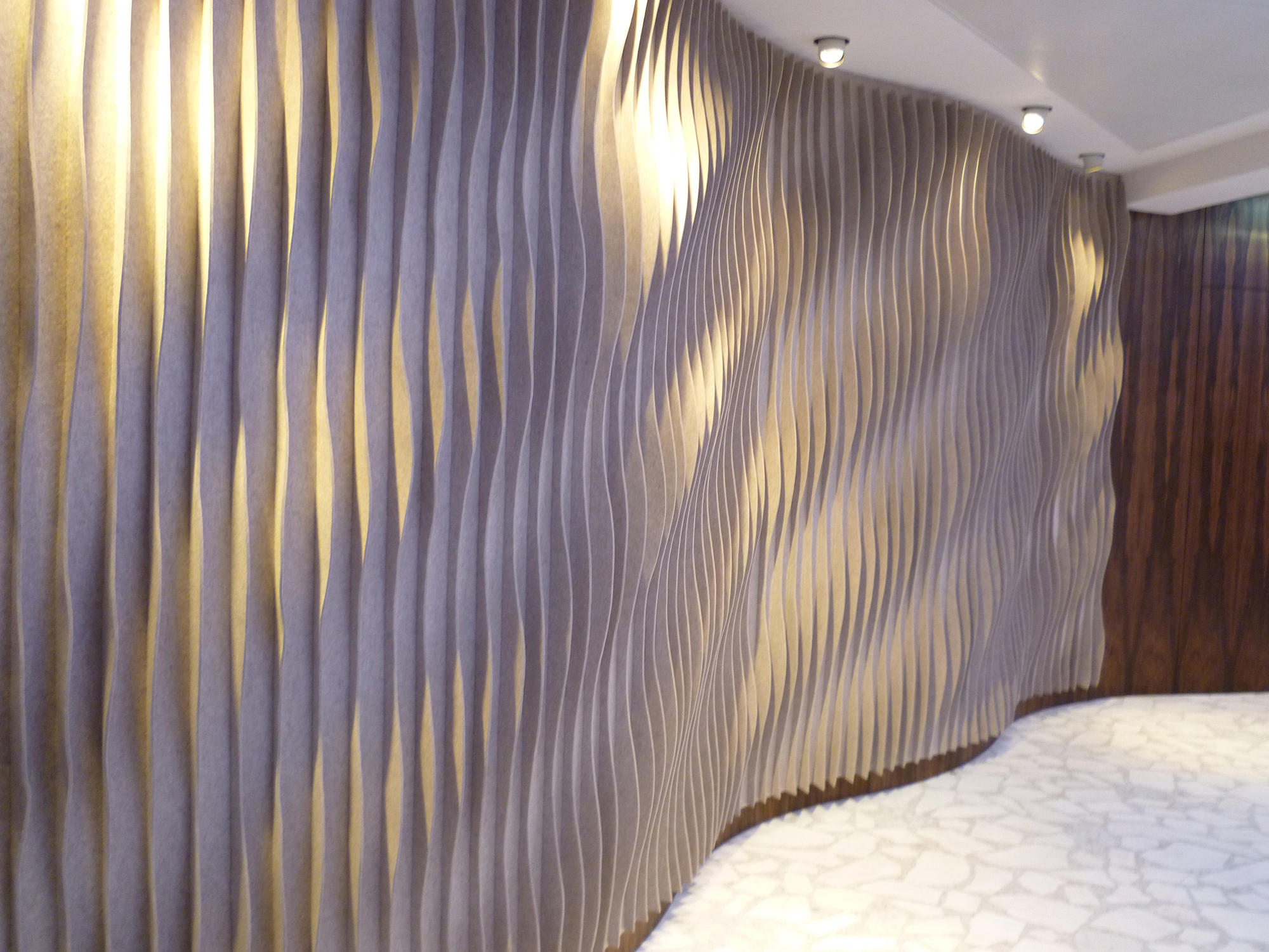 Laine wall panel bespoke fabrics from anne kyyr quinn architonic - Decorative acoustic wall panels ...