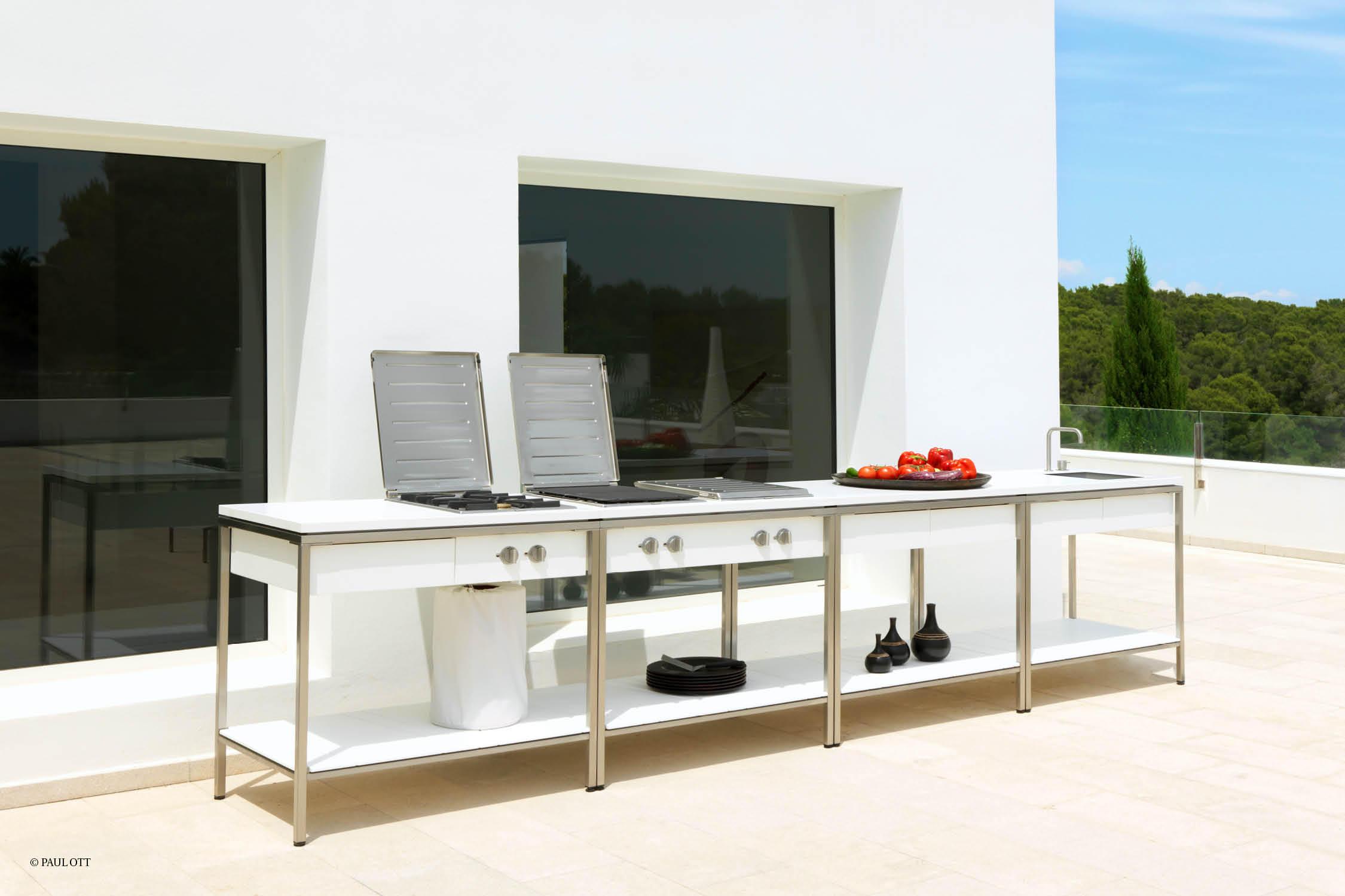 Outdoor Küchen Katalog : Outdoor kitchen tisch teak stehtische von viteo architonic