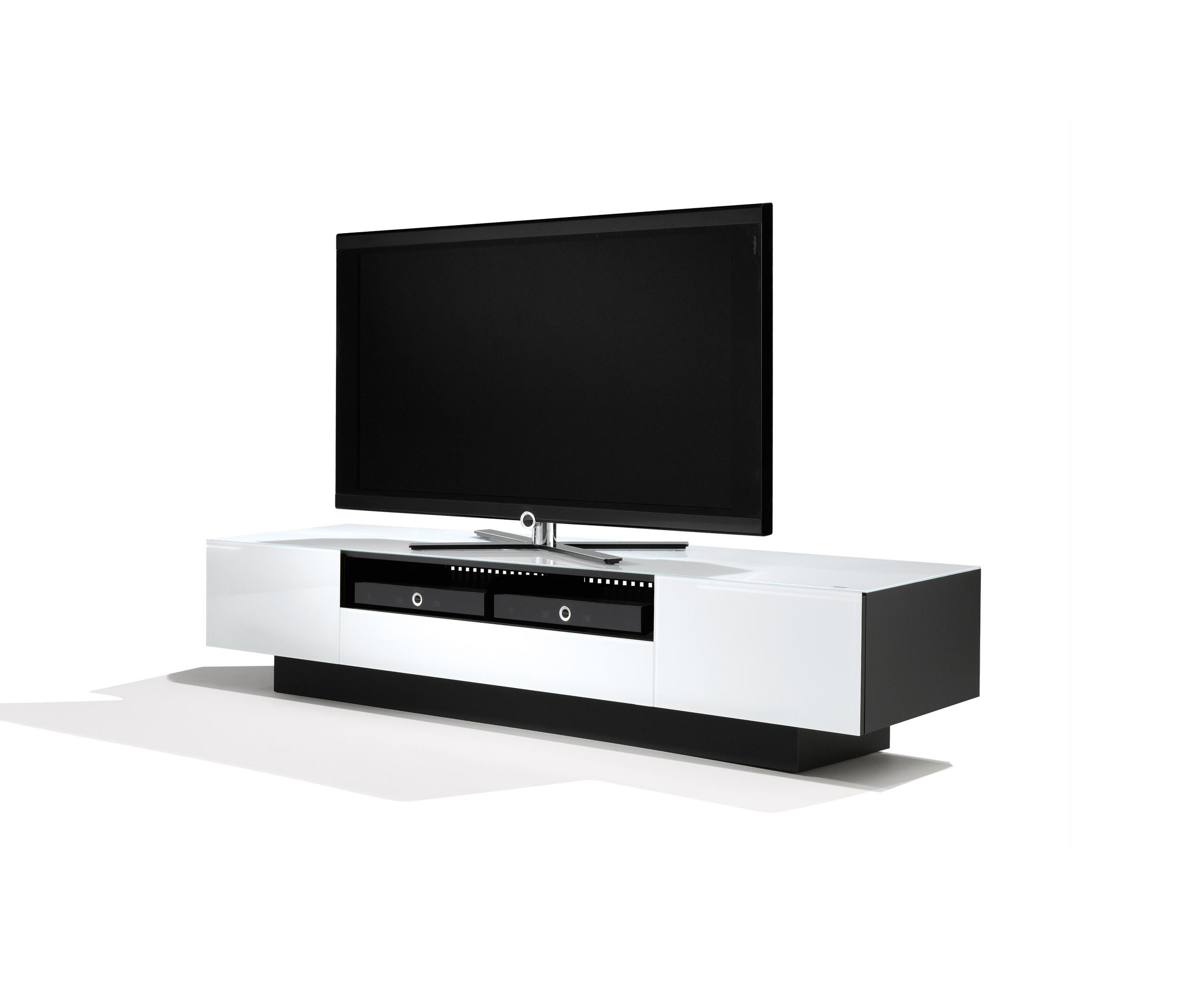 Tv Rack Jahnke Finest Frank Olsen Gloss White Tv Cabinet White  # Meuble Tv Jahnke