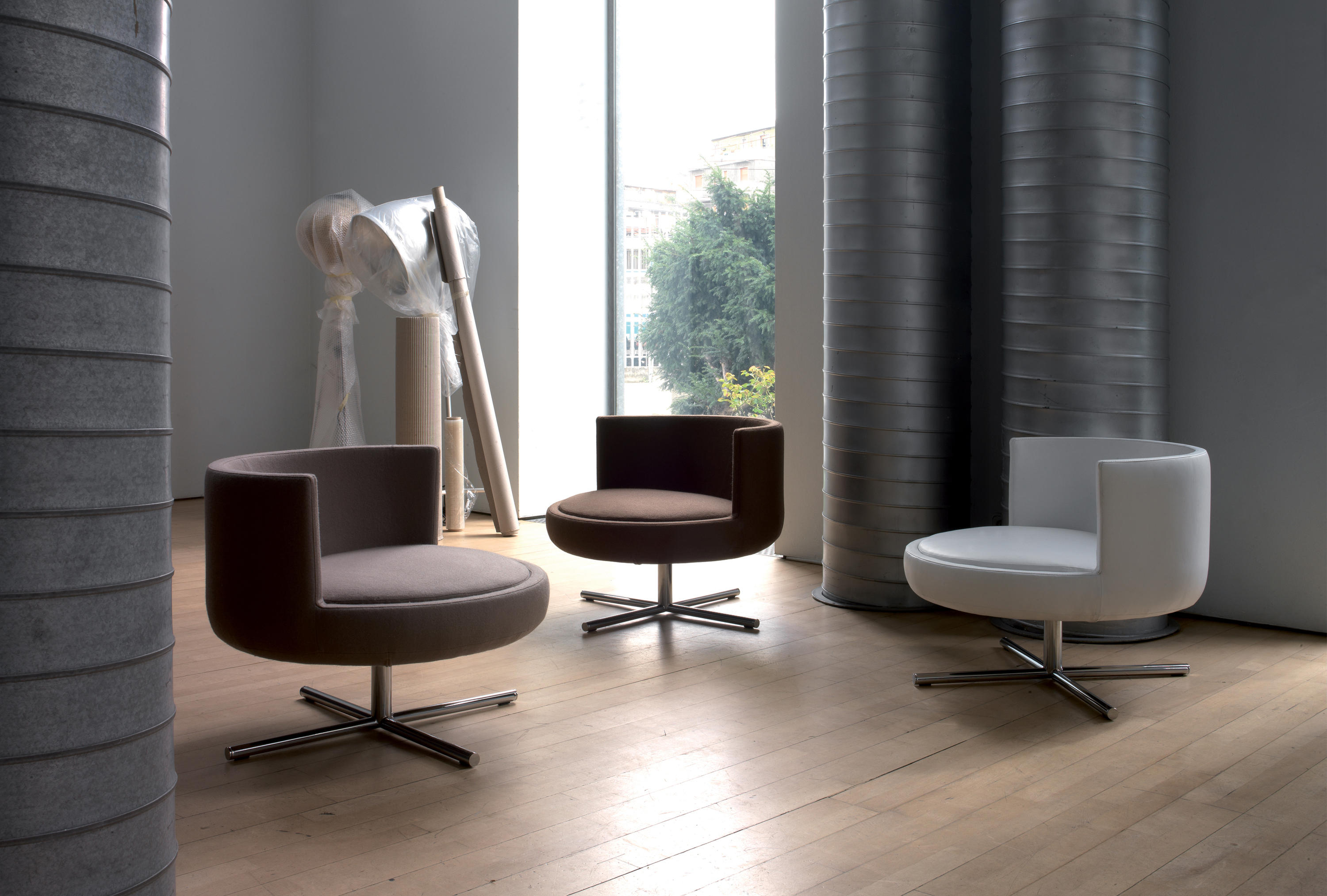 Round Armchairs From B Amp T Design Architonic