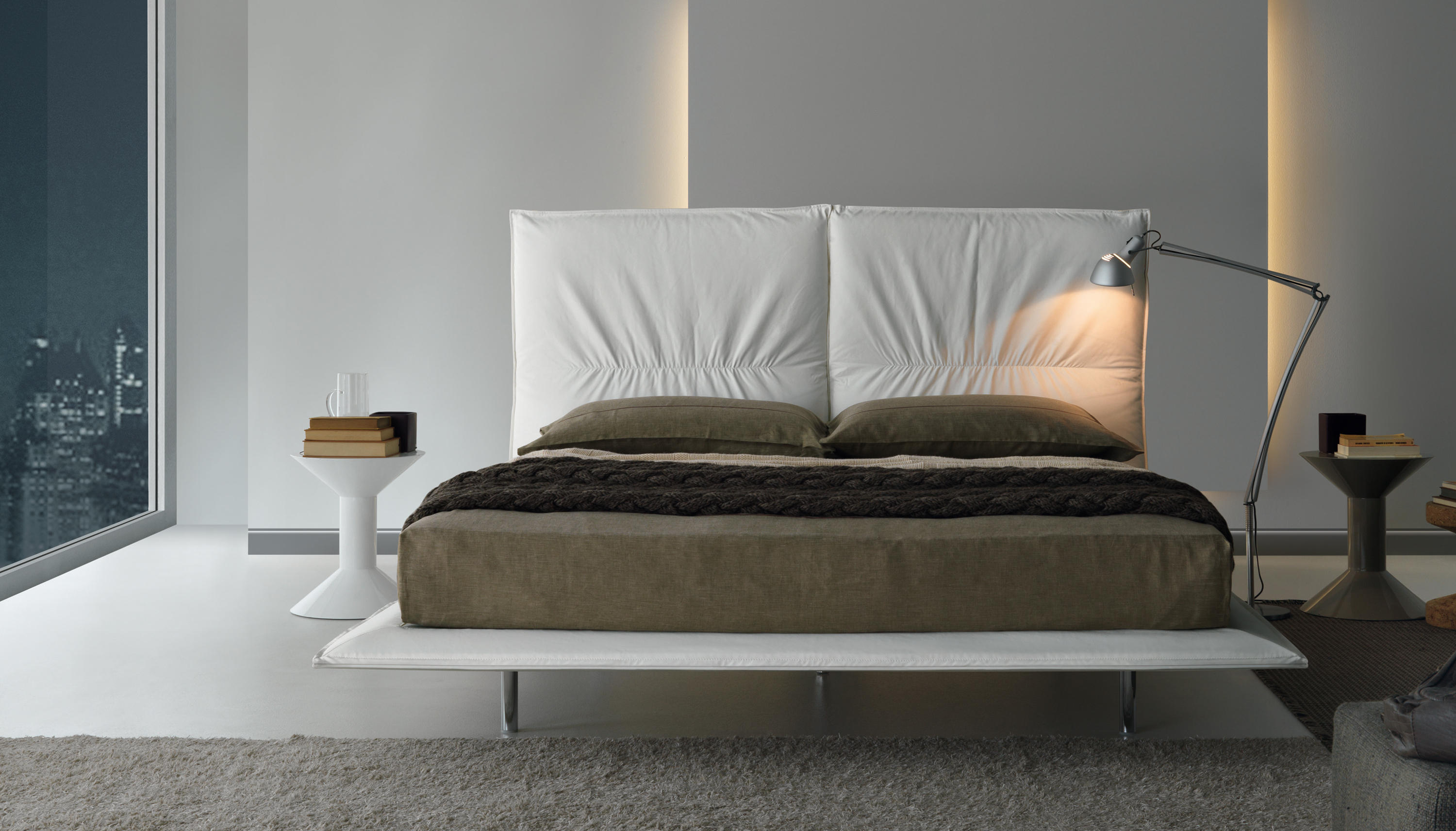 Pretty double beds from misura emme architonic for Misuraemme bed