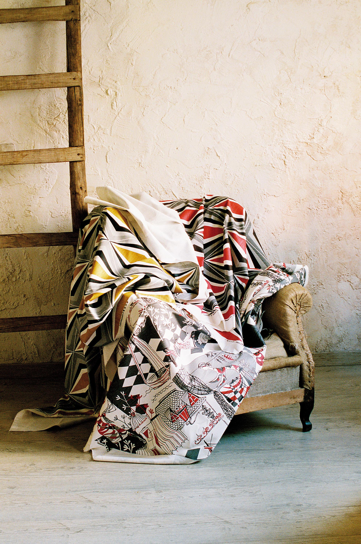 Villefranche rojo curtain fabrics from gast n y daniela - Gaston y daniela cortinas ...