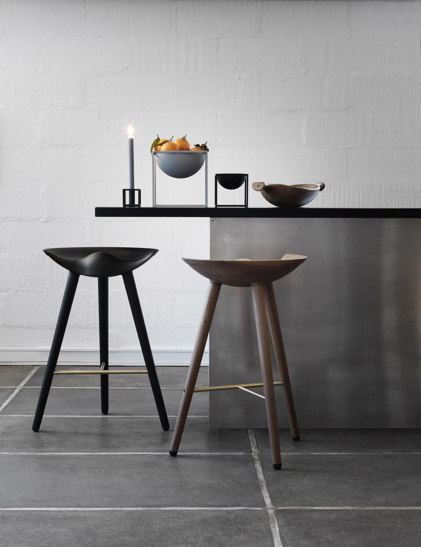 Ml 42 stool oak stools from by lassen architonic for Barhocker 2d cad