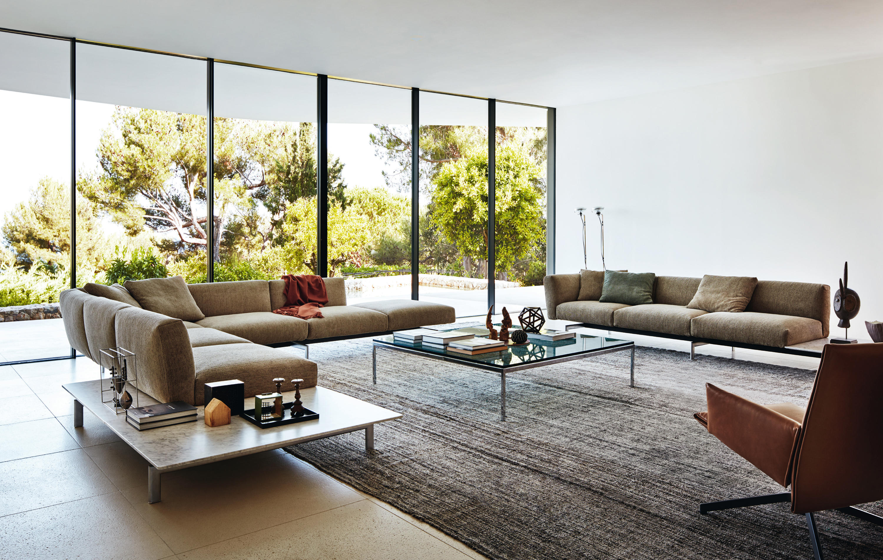 FLORENCE KNOLL LOUNGE 3 SEAT SOFA Lounge sofas from Knoll