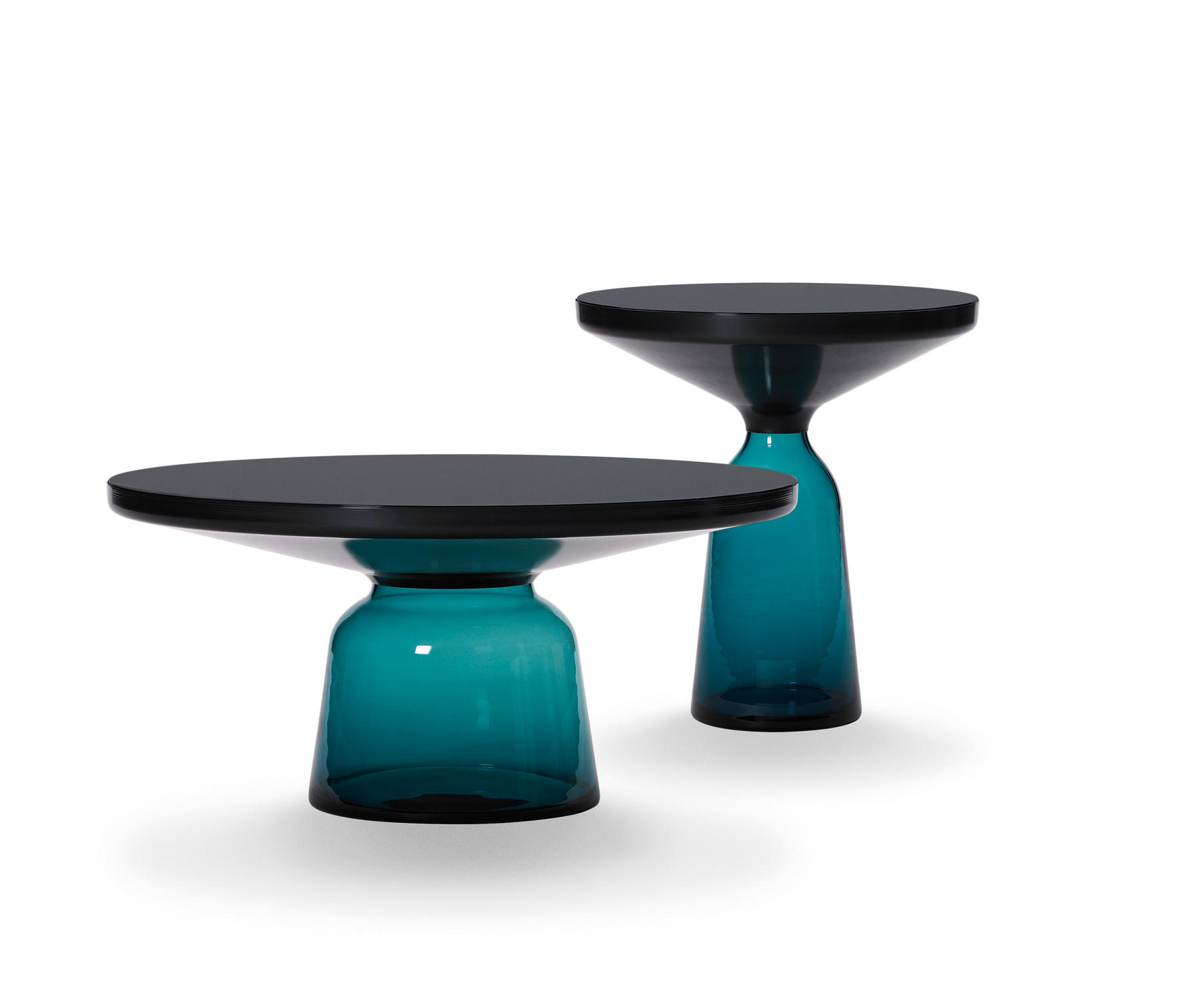 Bell Coffee Table Steel Glass Blue Coffee Tables From