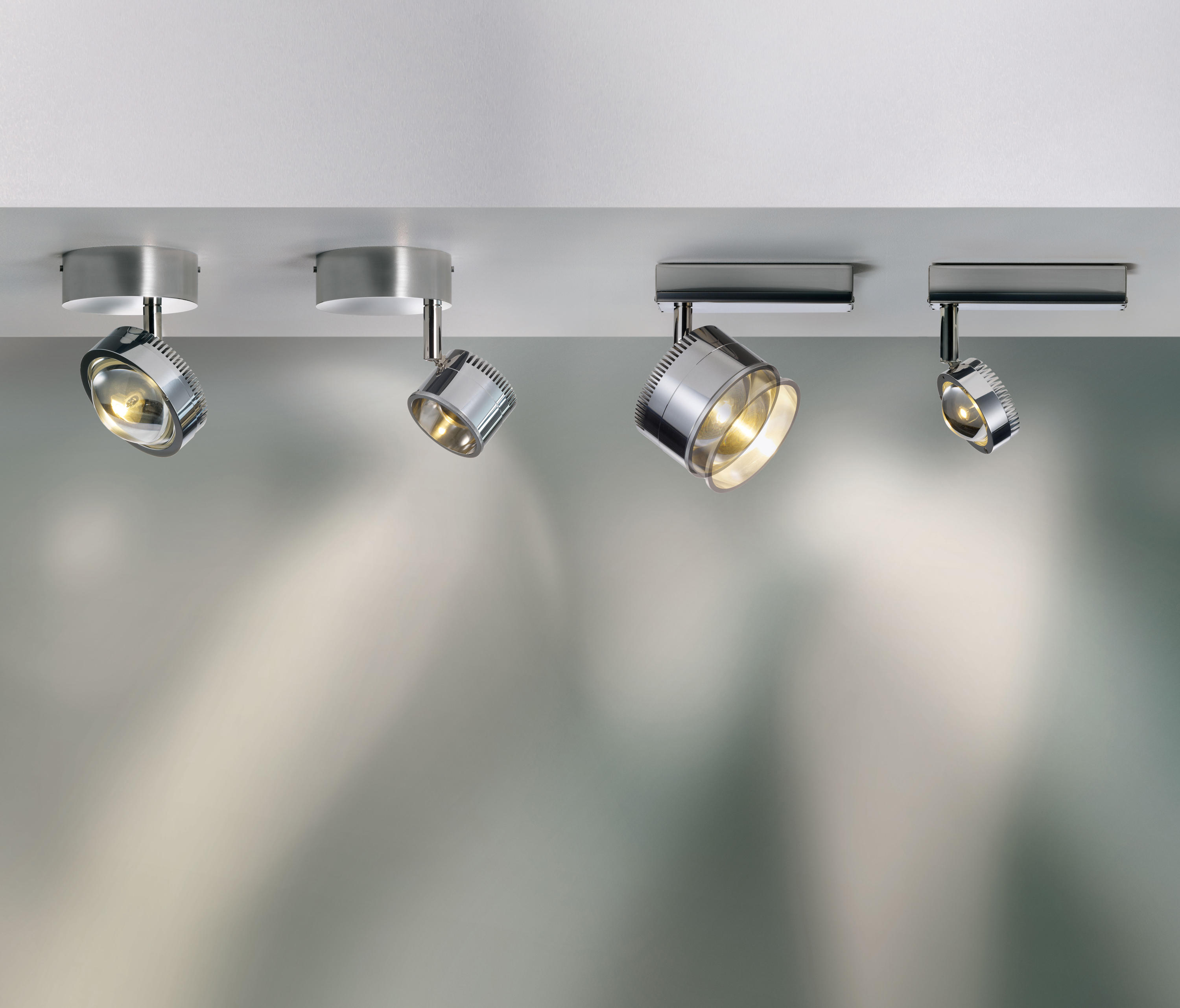 OCULAR SPOT 1 LED S 100 02 - Ceiling lights in stainless steel from ...