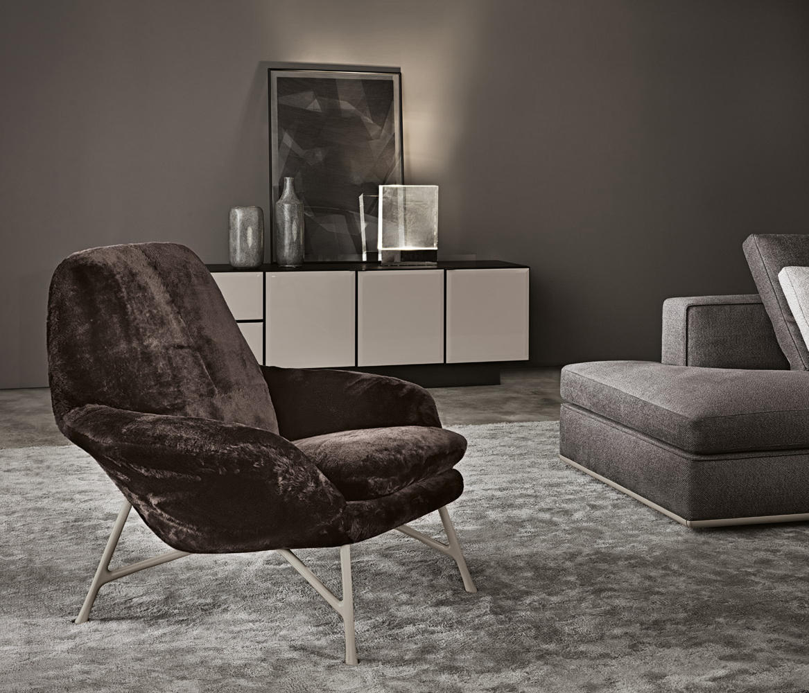 prince lounge chairs from minotti architonic. Black Bedroom Furniture Sets. Home Design Ideas