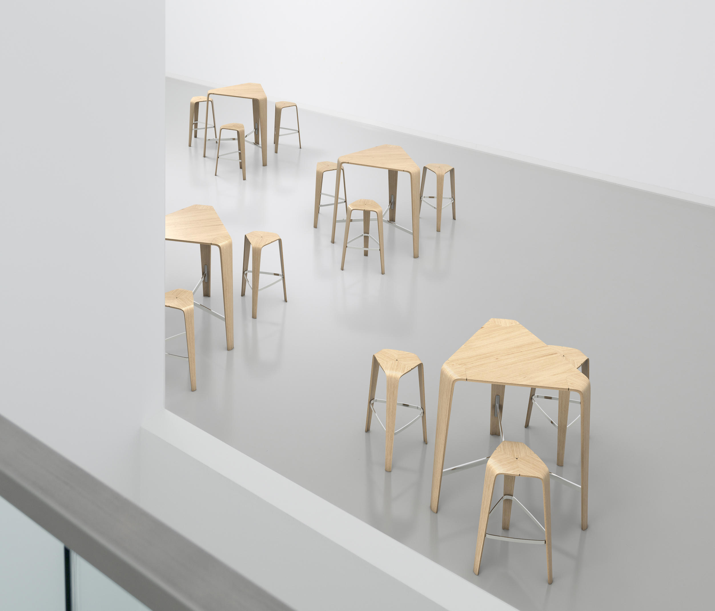 hoc bar tables from brunner architonic. Black Bedroom Furniture Sets. Home Design Ideas