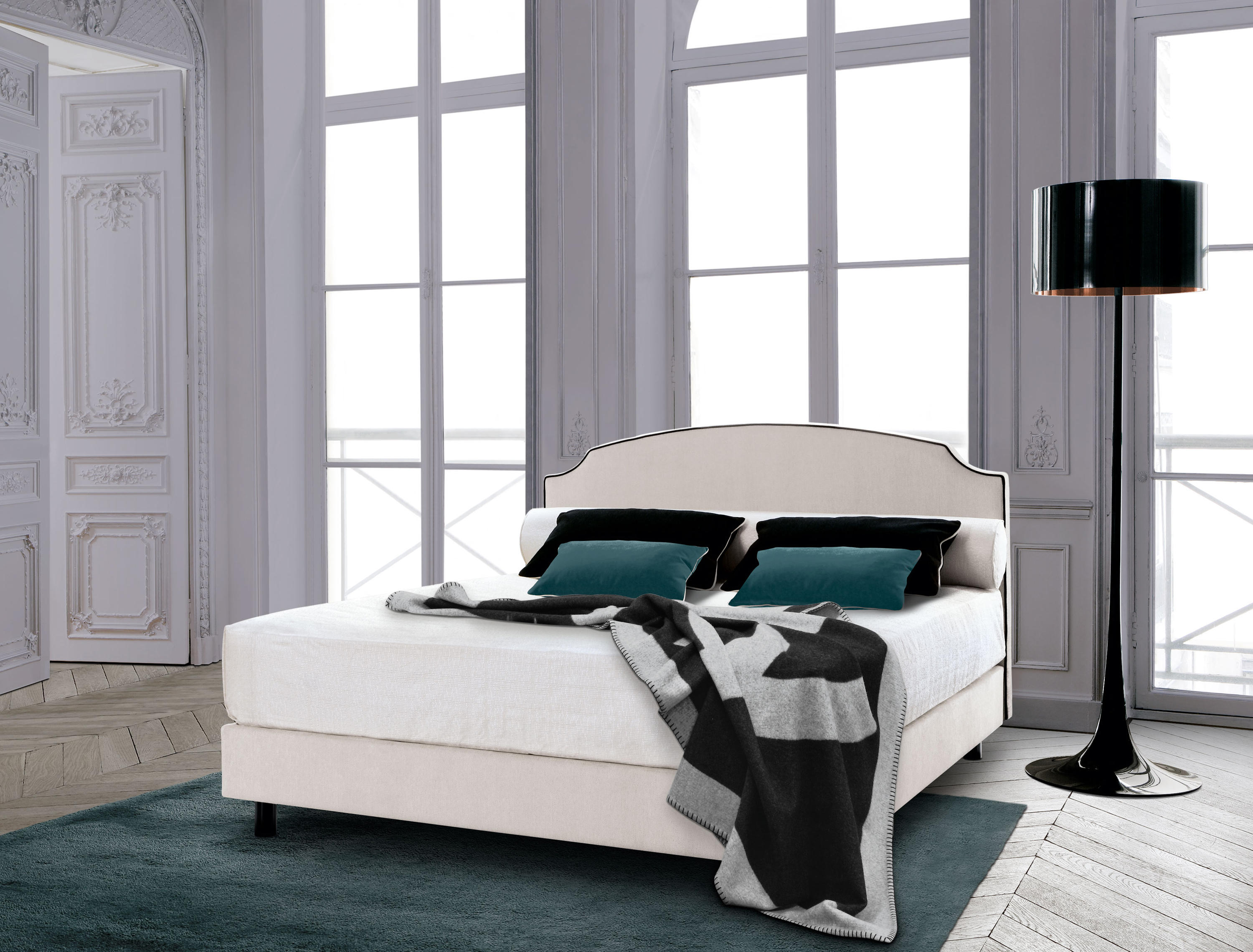 sleeping systems collection prestige headboard louis xvi double beds from treca interiors. Black Bedroom Furniture Sets. Home Design Ideas