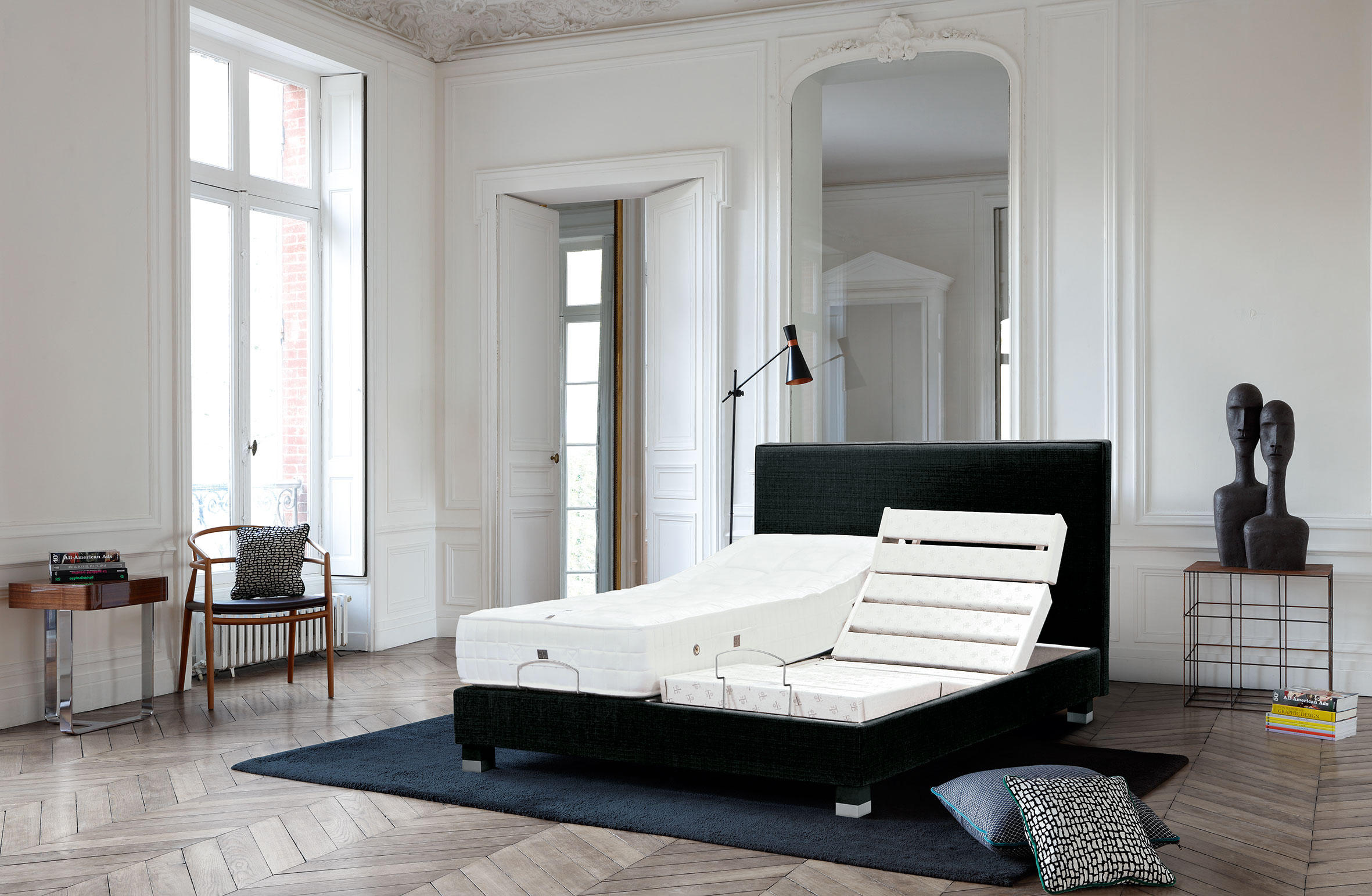 Sleeping systems collection prestige headboard moderne double beds from t - Treca interiors paris ...